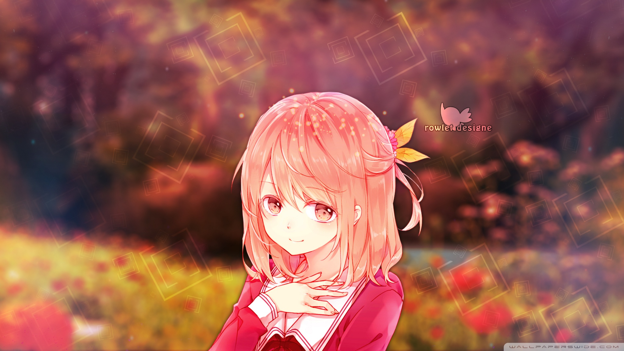 anime girl wallpaper,anime,cartoon,cg artwork,pink,sky