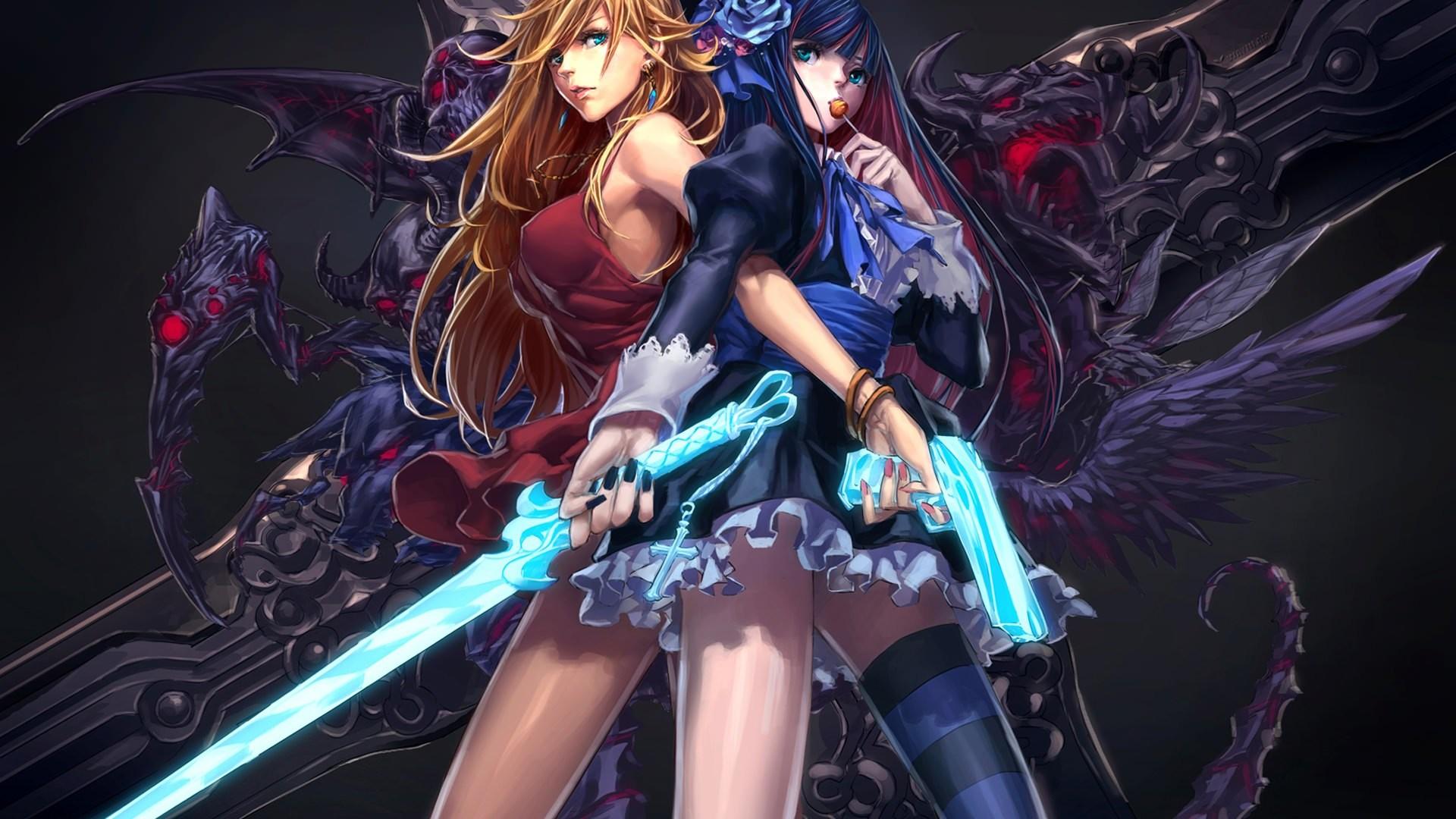 anime girl wallpaper,cg artwork,fictional character,anime,illustration,black hair