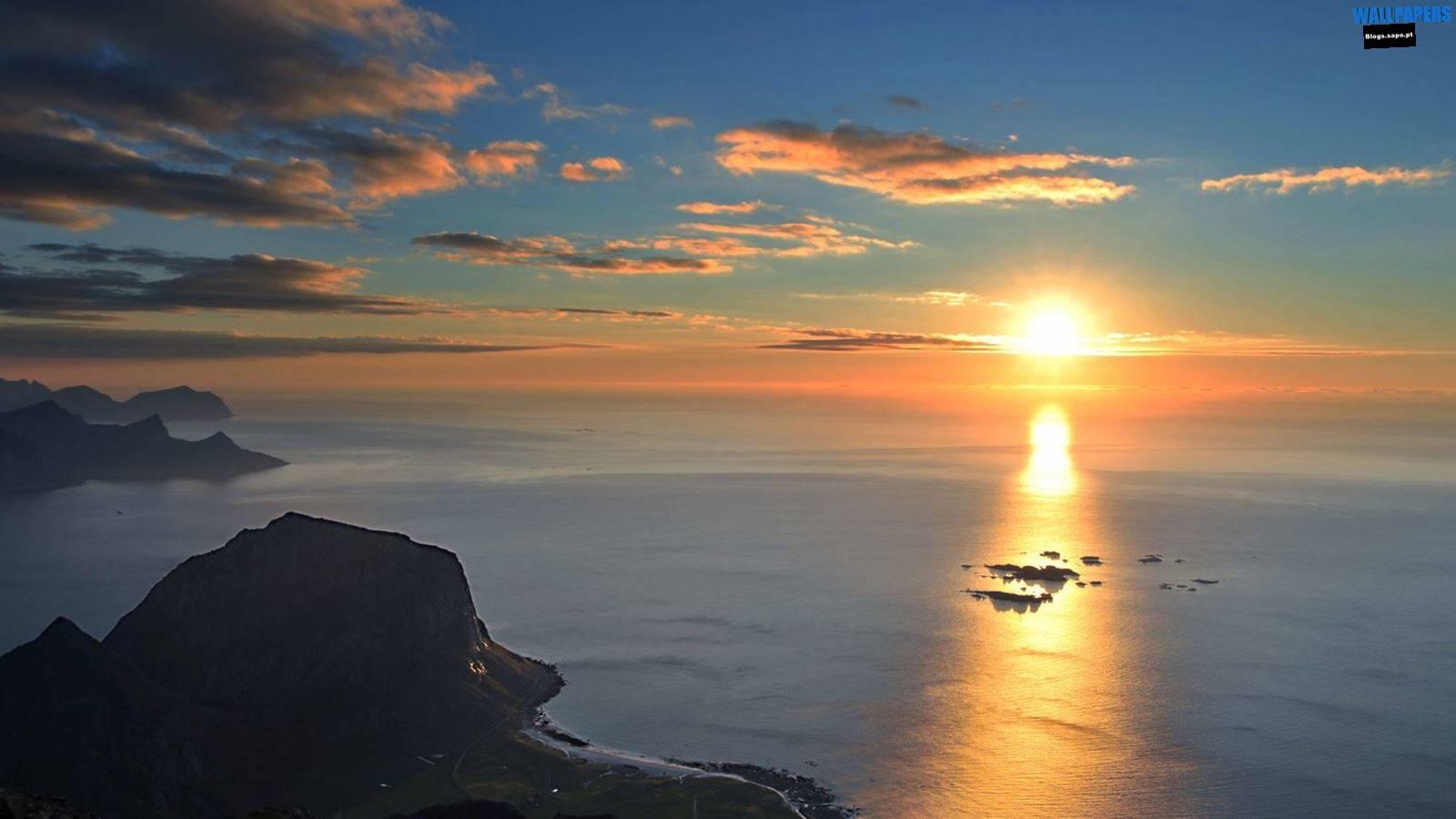 golden sun wallpaper,sky,horizon,sea,sunrise,sunset