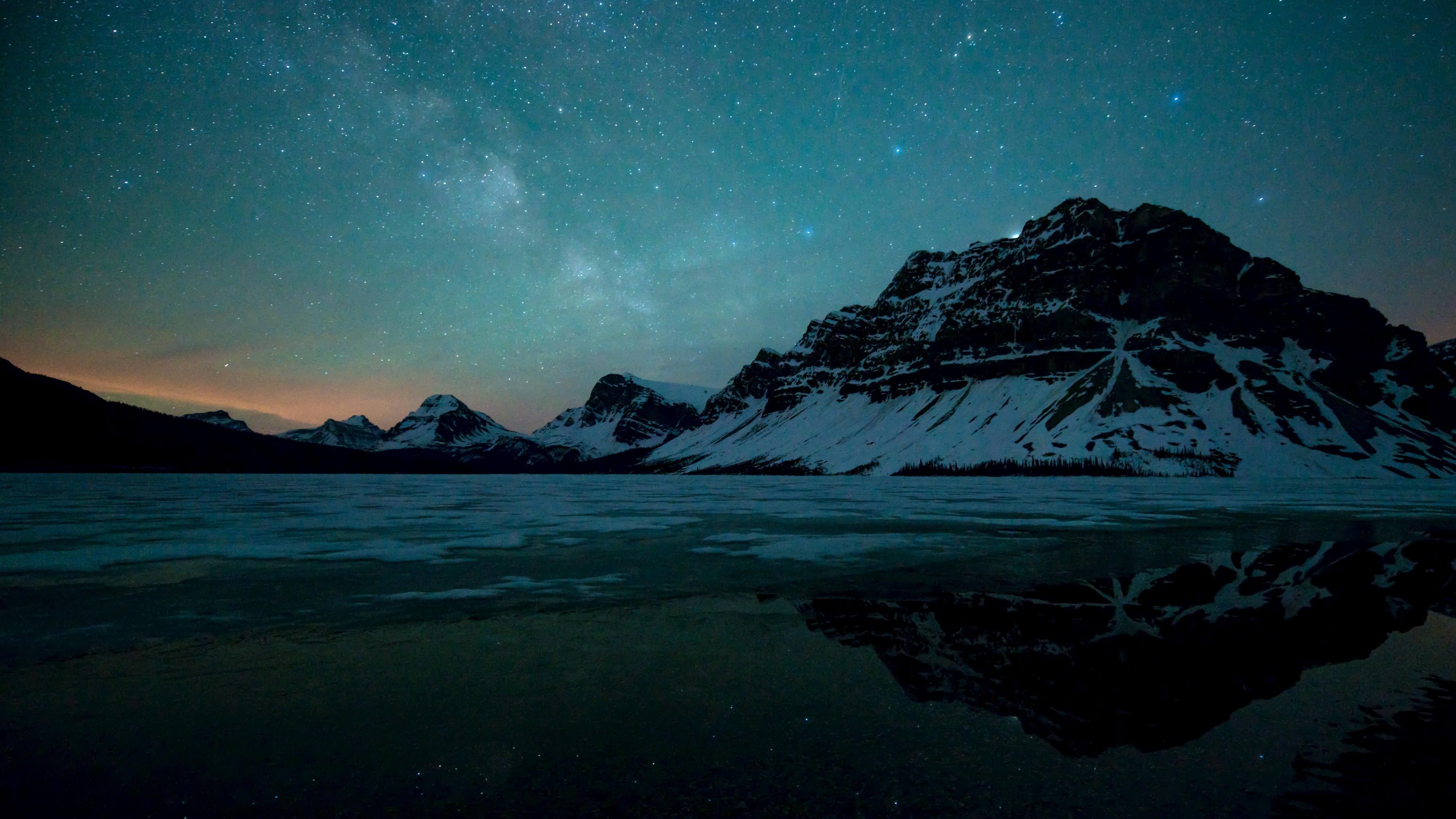 3840 wallpaper,sky,nature,mountain range,mountain,light