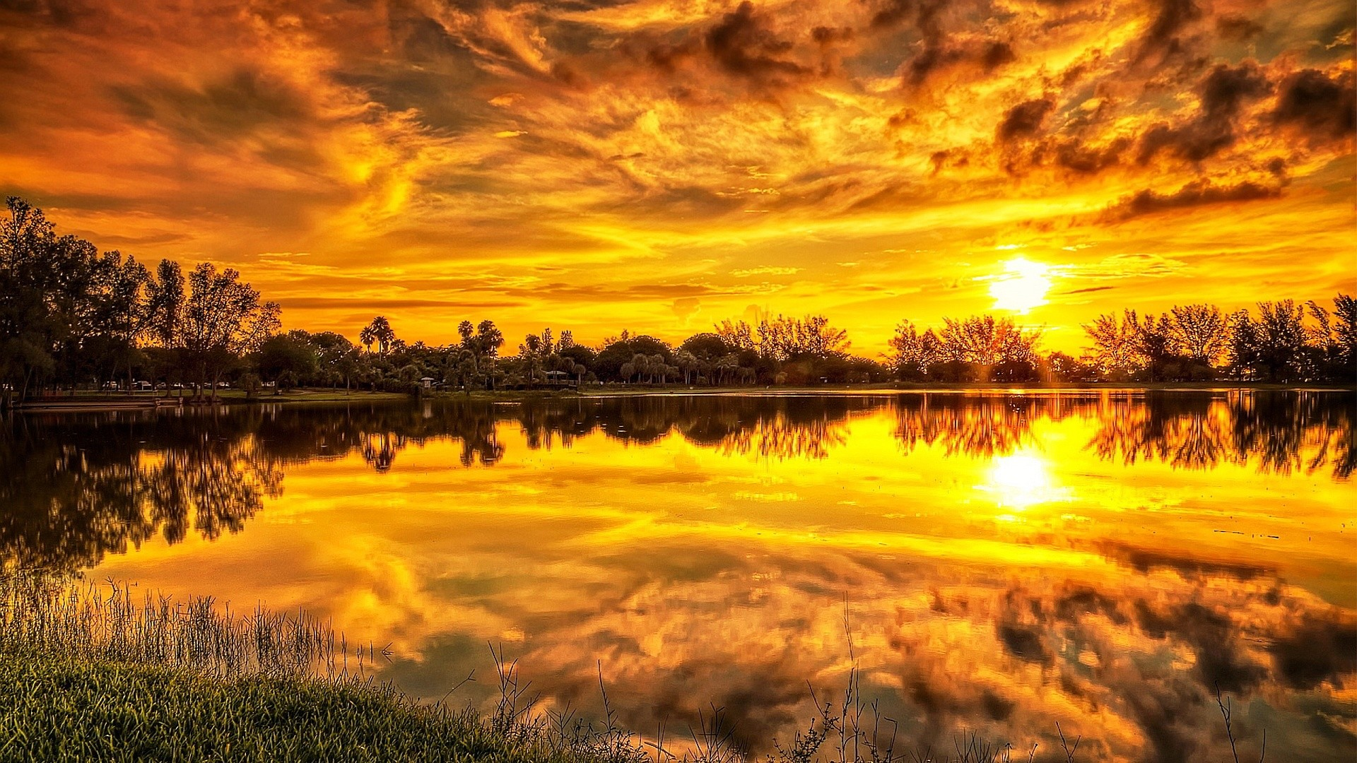 wallpaper 1366 x 786 hd,sky,nature,natural landscape,reflection,sunset