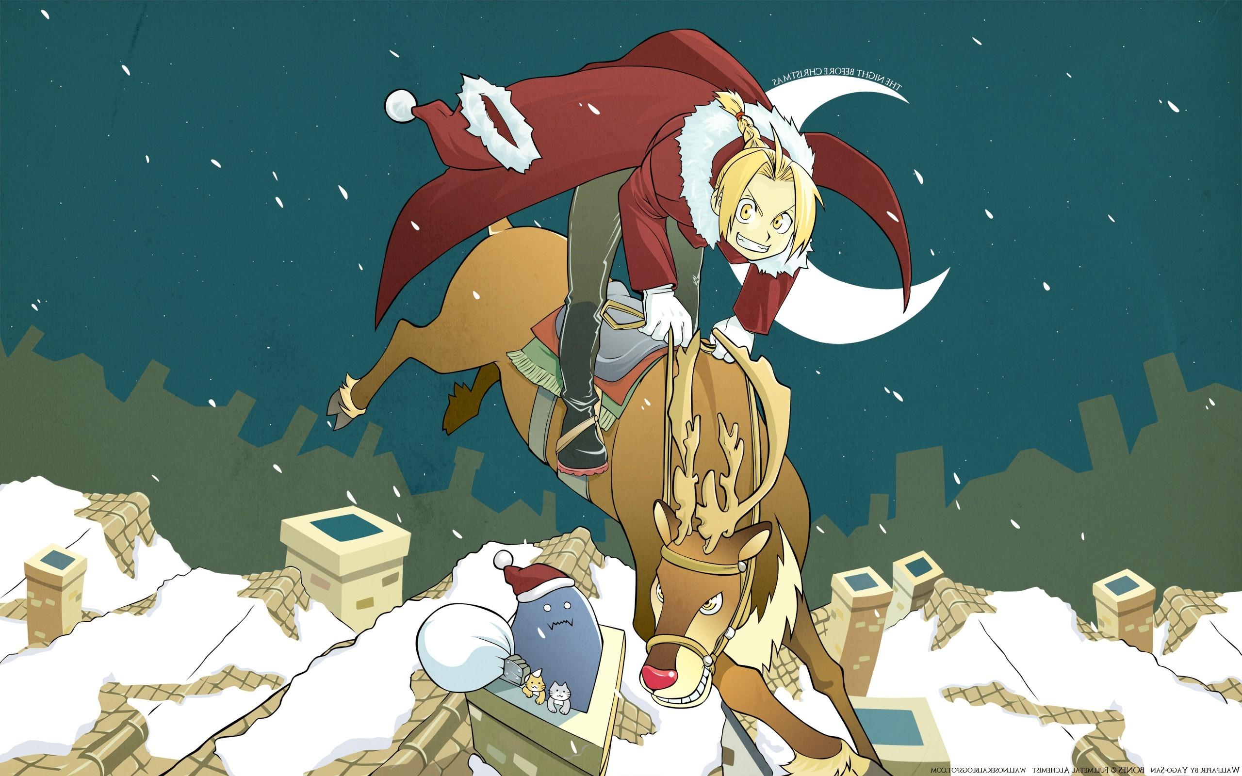 navidad anime wallpaper,animated cartoon,cartoon,illustration,art,animation