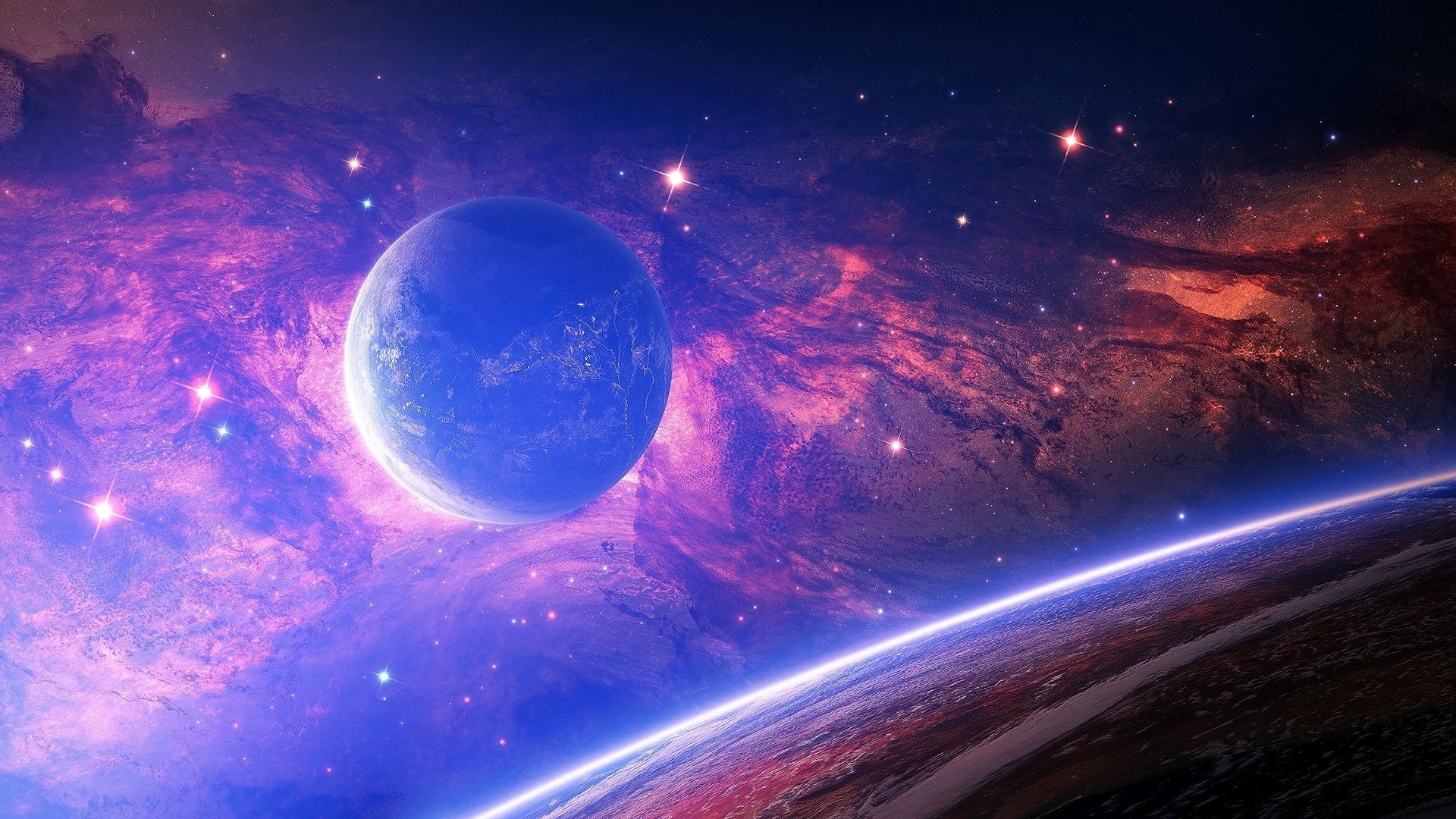 space pc wallpaper,outer space,atmosphere,astronomical object,sky,universe