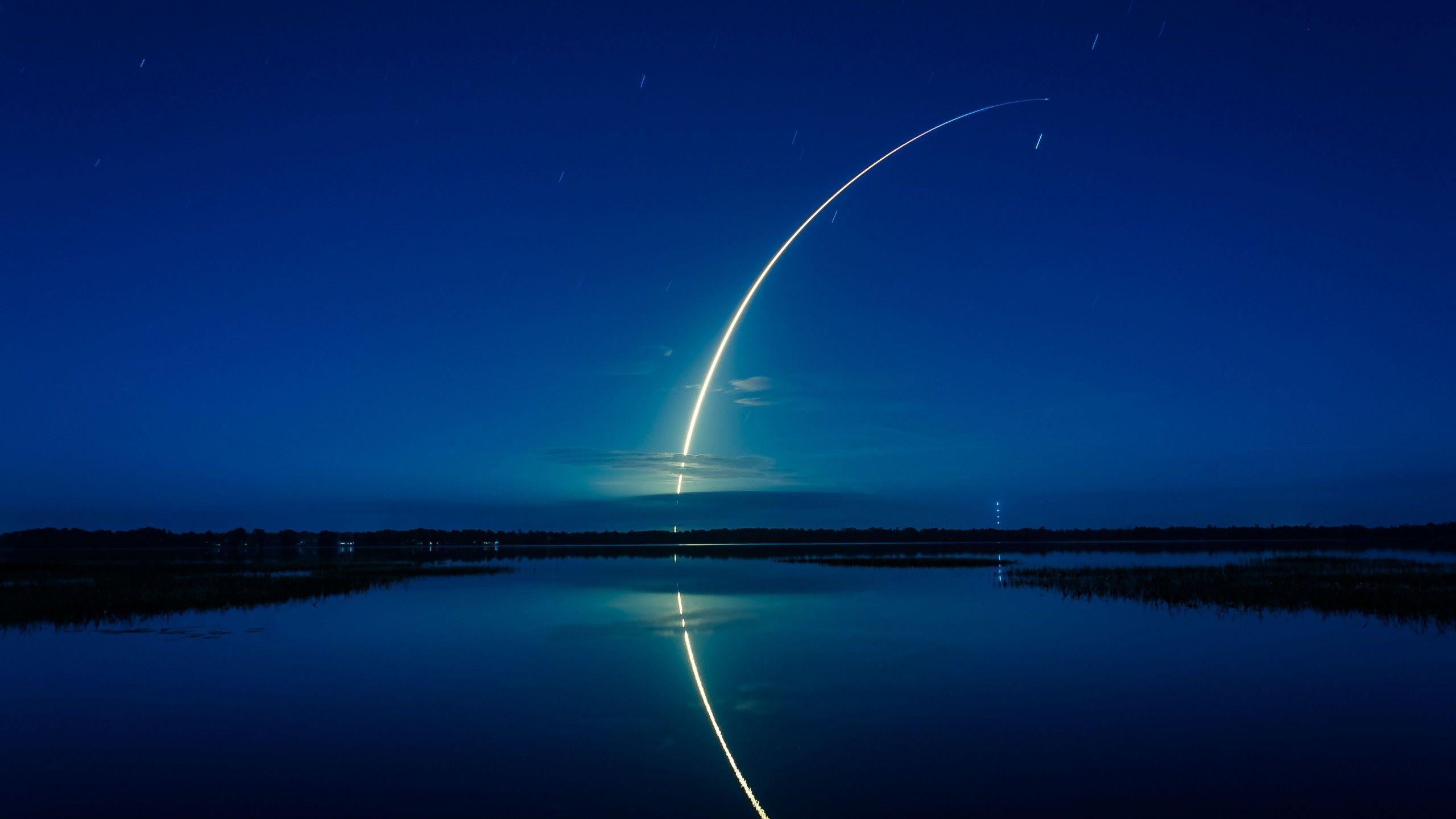 space rocket wallpaper,sky,blue,night,light,atmosphere