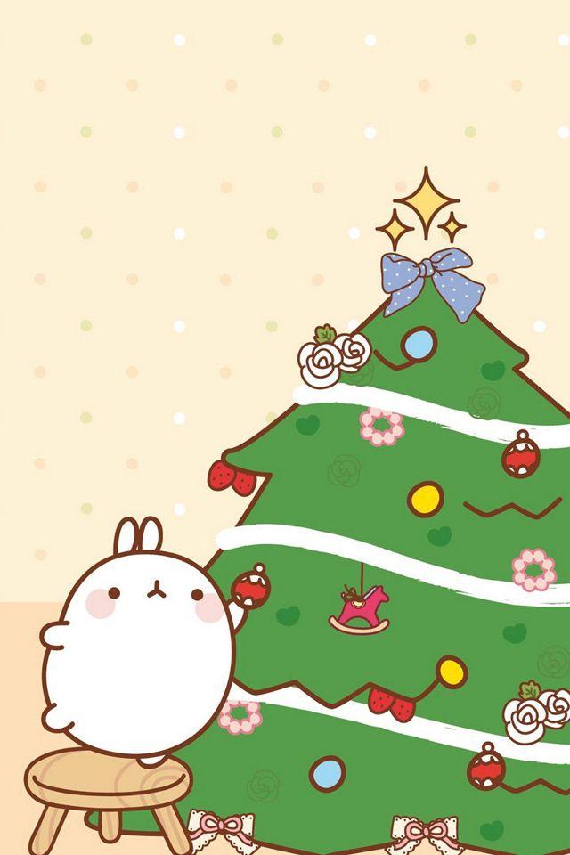 kawaii christmas wallpaper,christmas tree,oregon pine,colorado spruce,christmas,christmas decoration