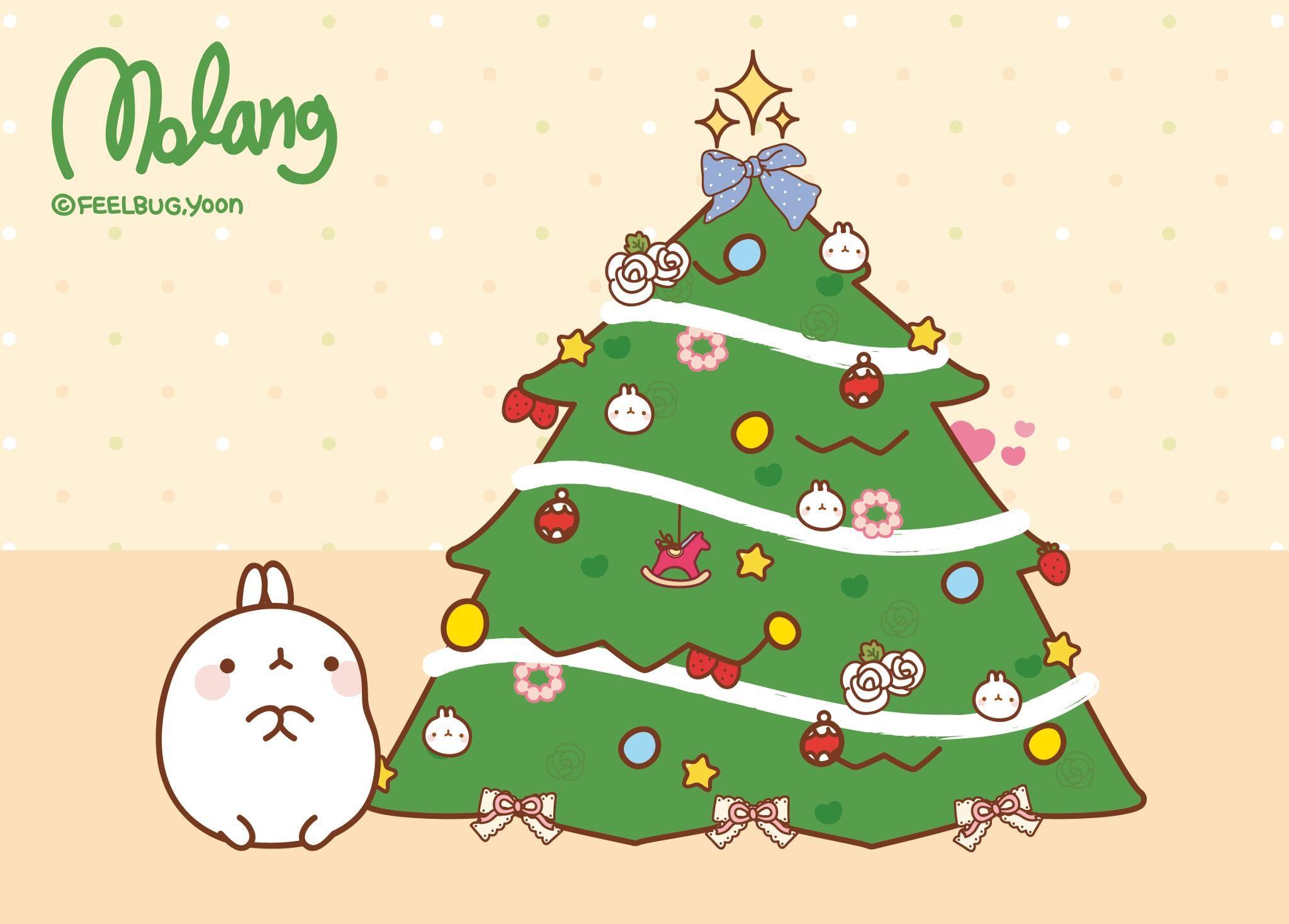 kawaii christmas wallpaper,christmas tree,oregon pine,colorado spruce,christmas eve,christmas
