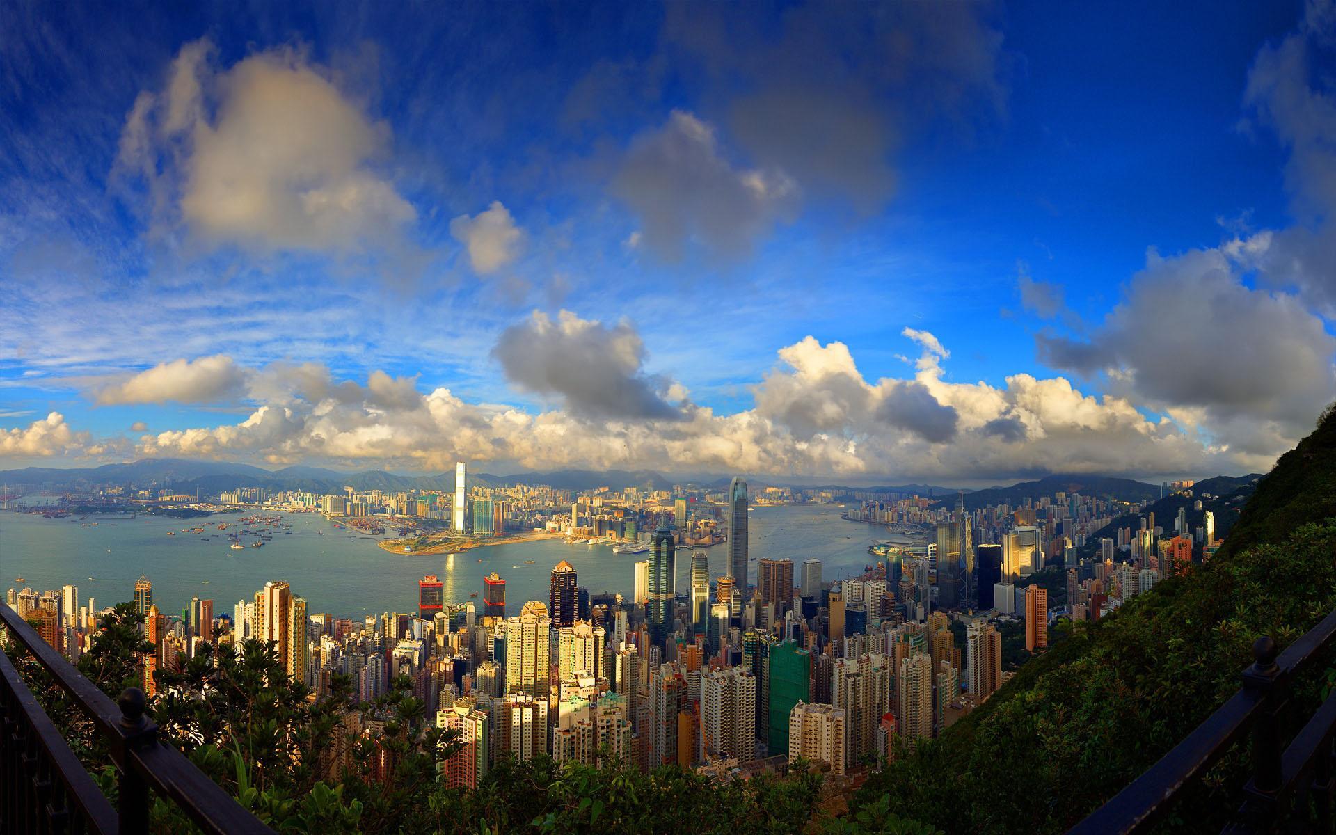 beautiful view wallpaper,sky,metropolitan area,cityscape,urban area,city
