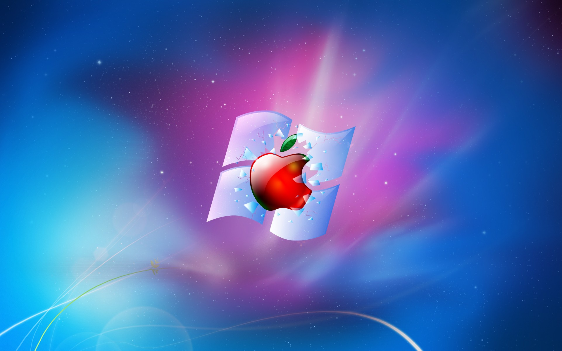 apple computer wallpaper,operating system,sky,atmosphere,space,animation