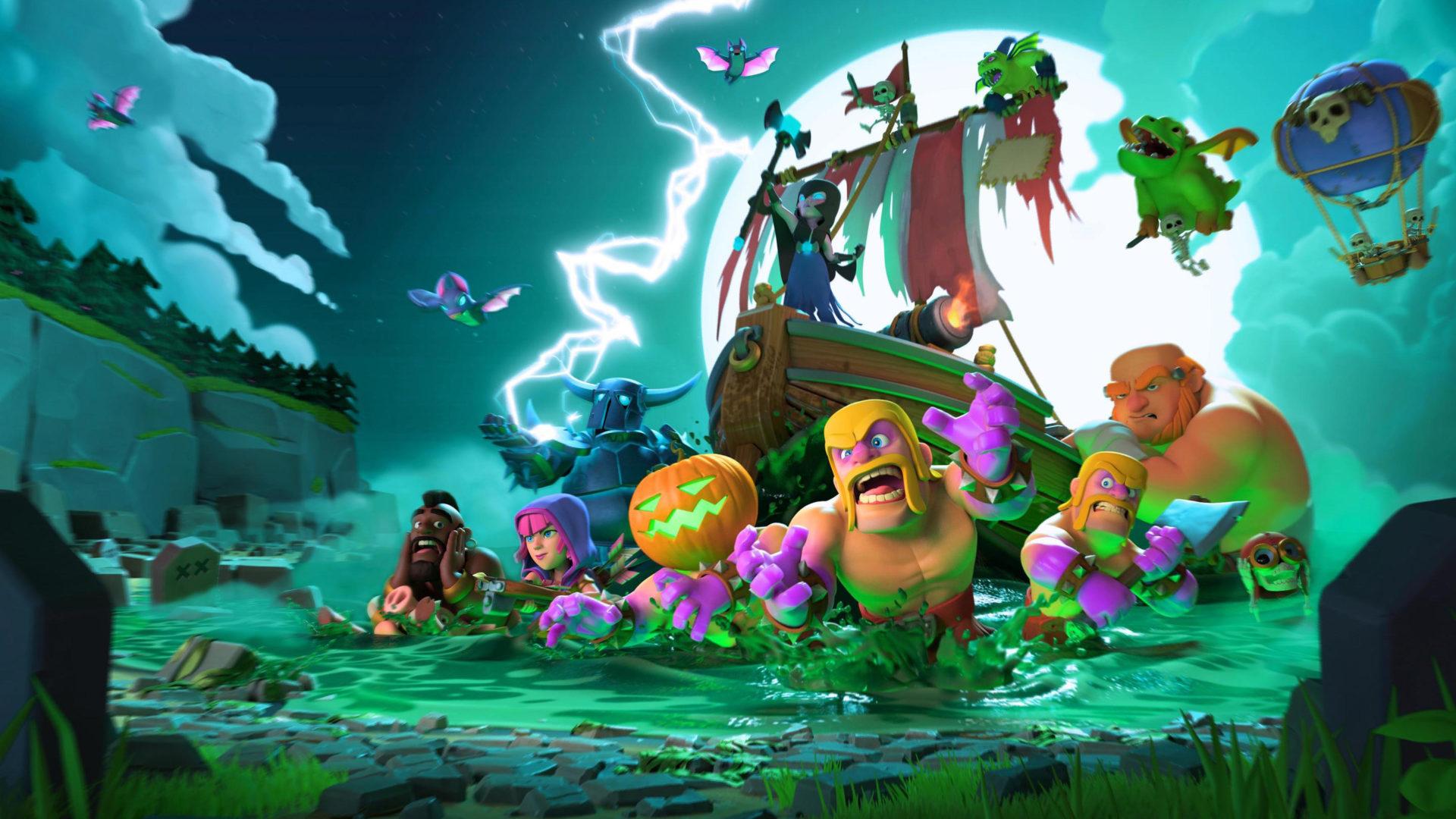 coc wallpaper,adventure game,animated cartoon,illustration,organism,screenshot