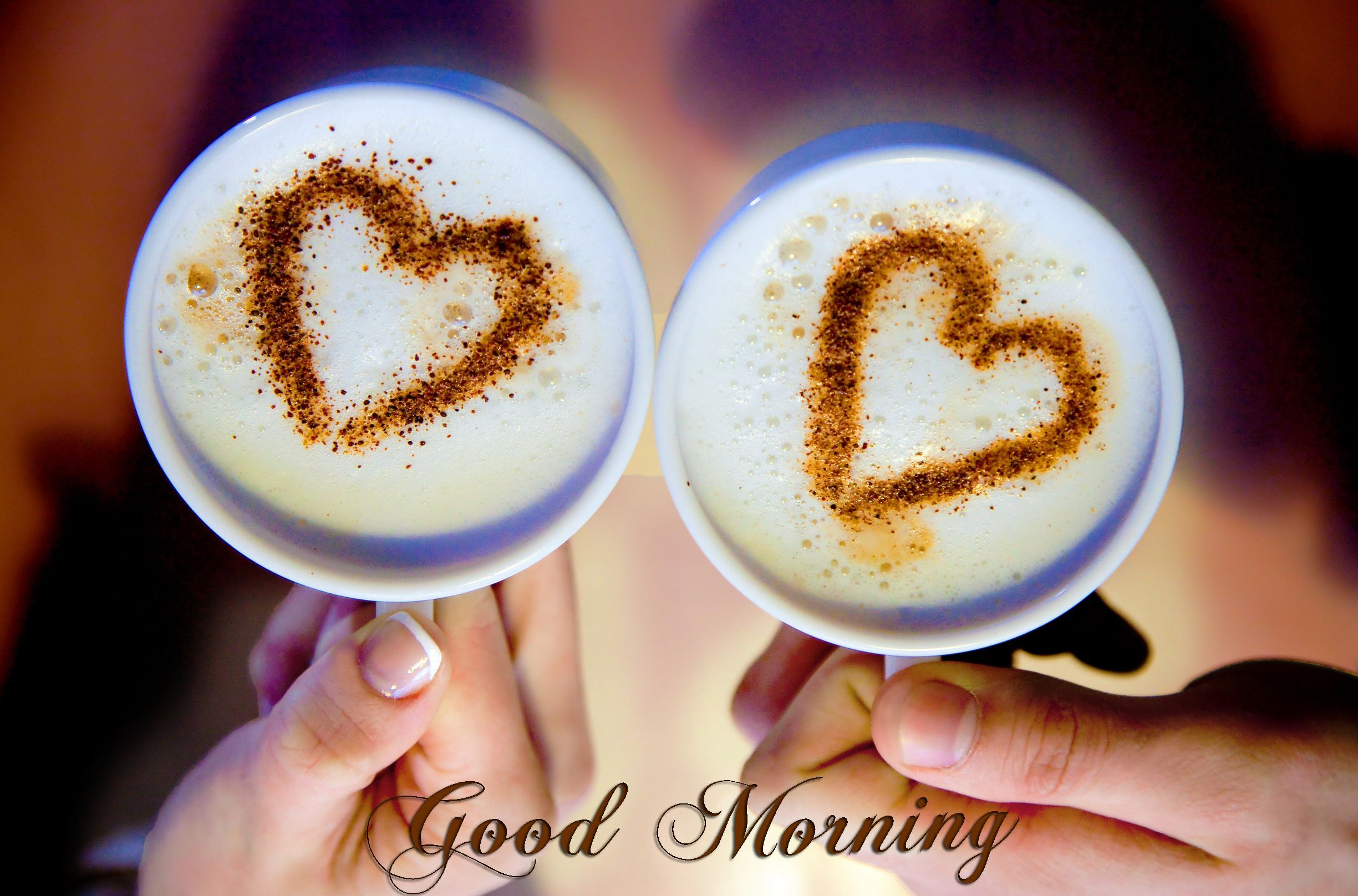 good morning hd wallpaper,heart,babycino,food,cappuccino,latte