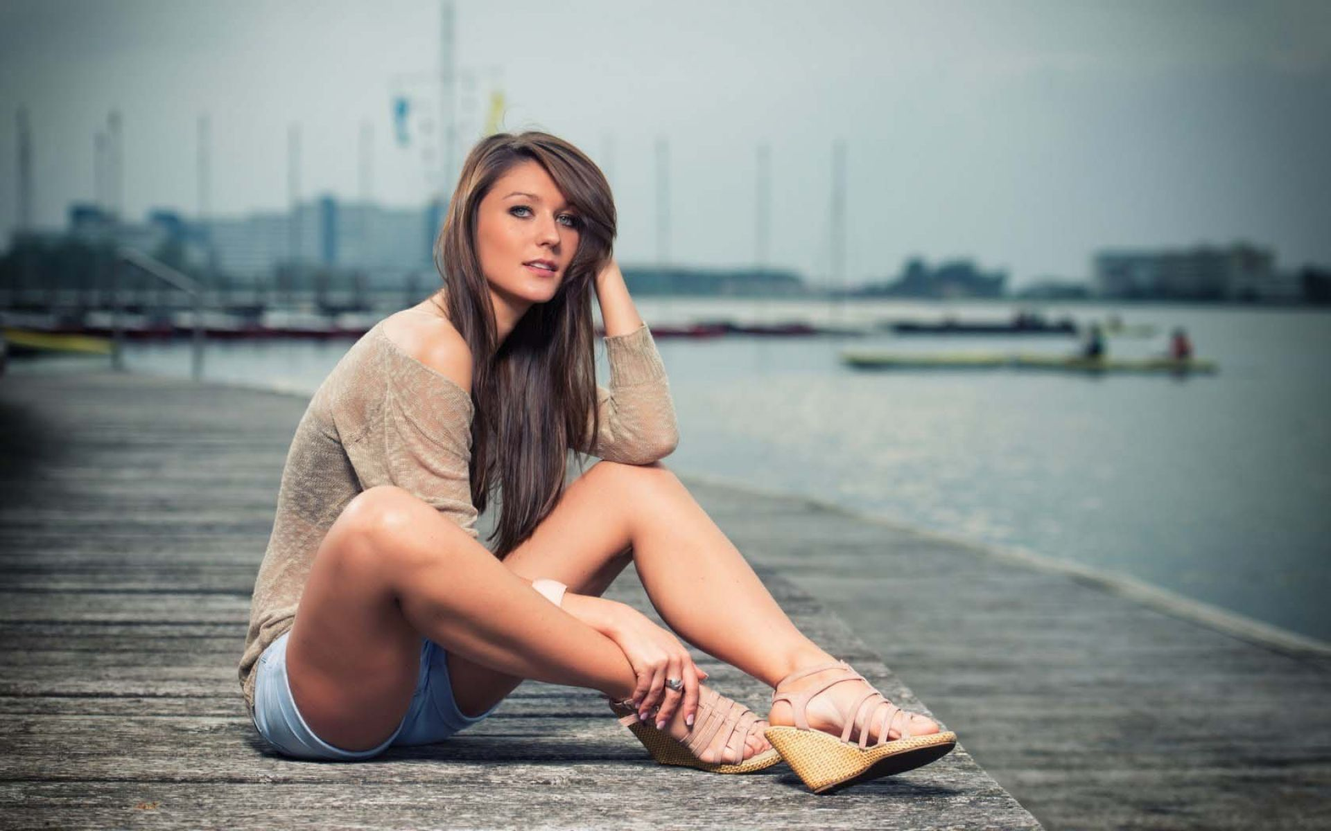 beautiful girl hd wallpaper,photograph,sitting,beauty,leg,human leg