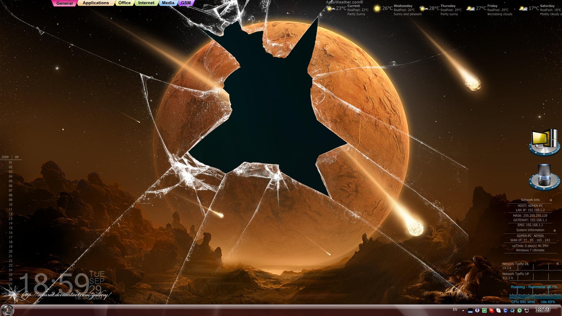 display crack wallpaper,sky,space,font,batman,fictional character