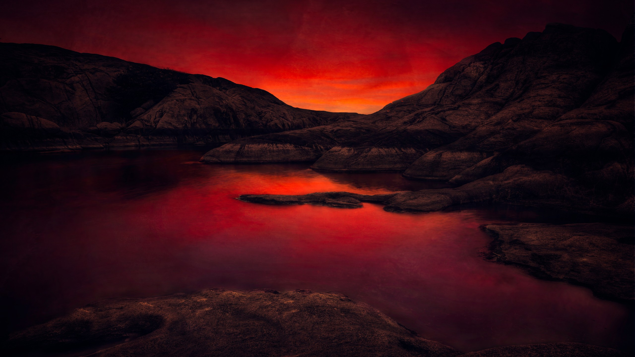 5k ultra hd wallpapers,sky,nature,red,natural landscape,reflection