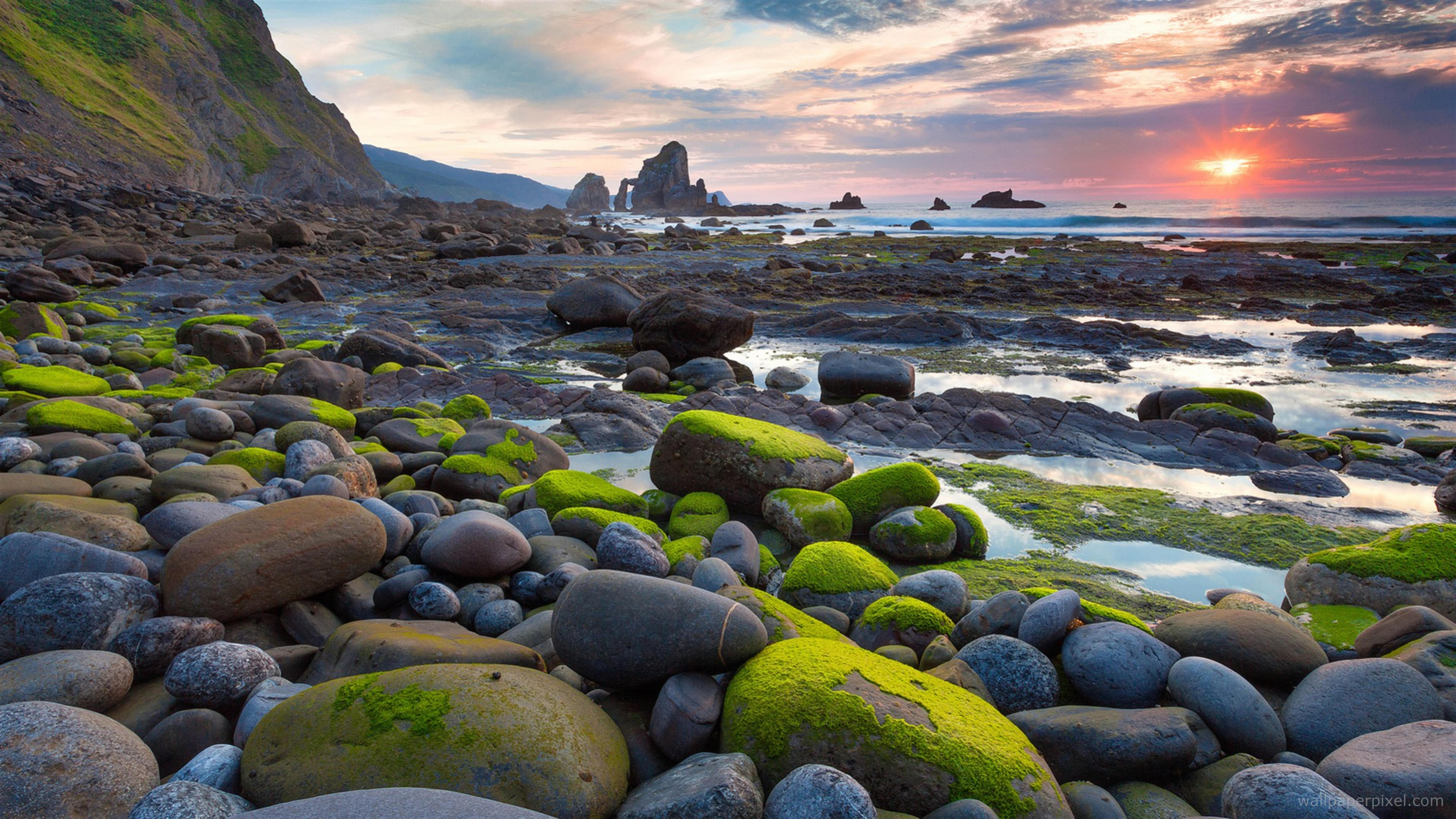 64k resolution wallpaper download,nature,natural landscape,shore,sky,rock