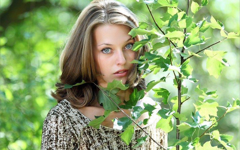 anna blue wallpaper,hair,people in nature,nature,green,skin