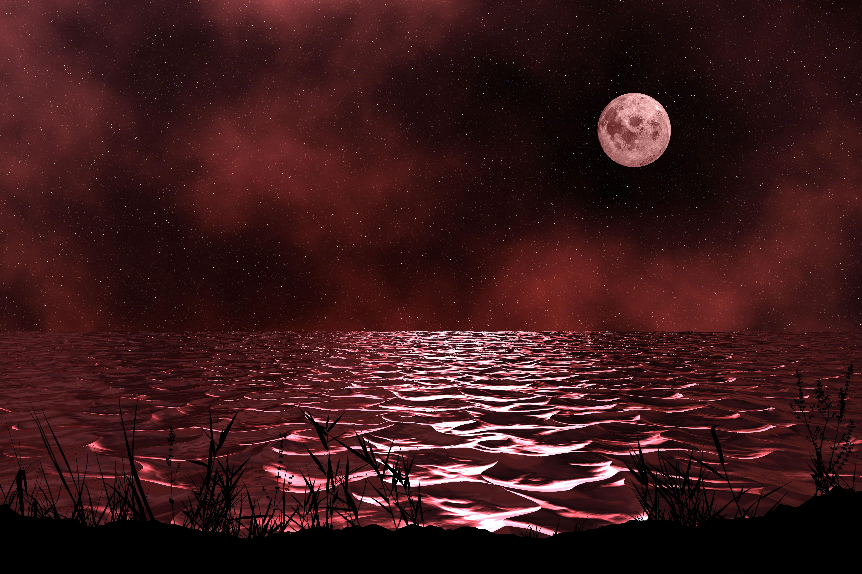 dim wallpaper,sky,nature,moon,red,light 20   WallpaperUse