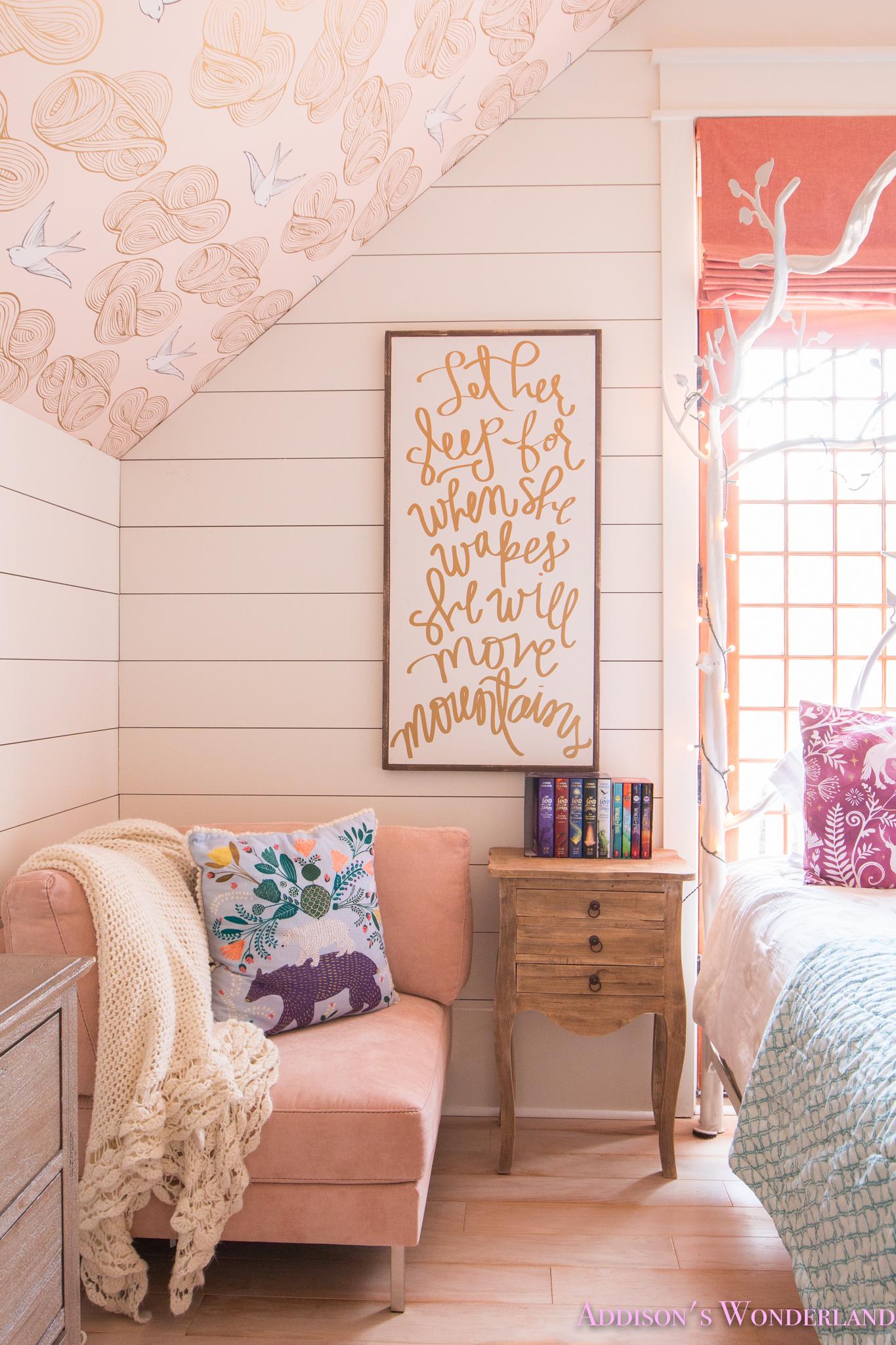 harry potter themed wallpaper,room,pink,furniture,interior design,wall