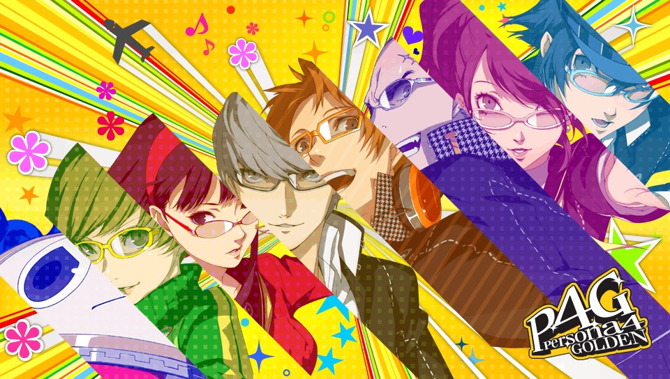 persona 4 golden wallpaper,cartoon,anime,graphic design,illustration,art