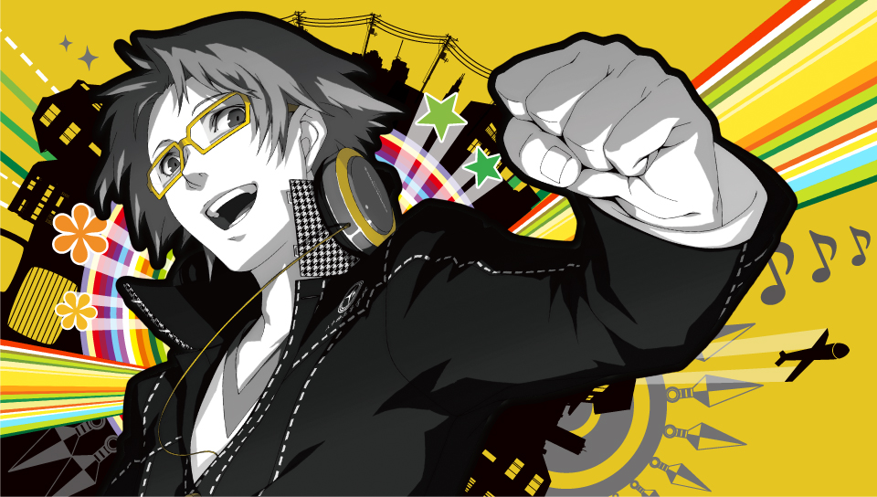 persona 4 golden wallpaper,cartoon,illustration,black hair,graphic design,fictional character