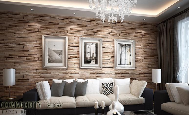 brick wallpaper room,living room,room,wall,interior design,furniture