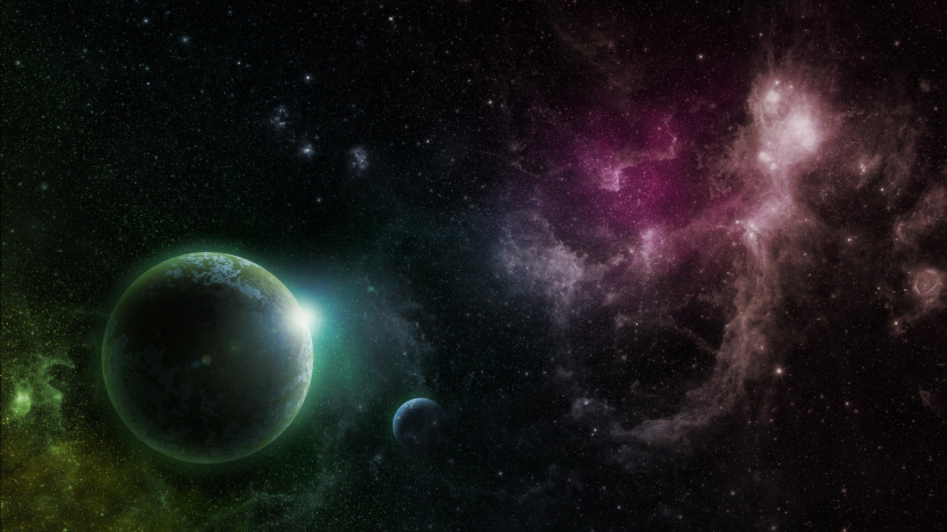 green galaxy wallpaper,outer space,astronomical object,atmosphere,universe,space
