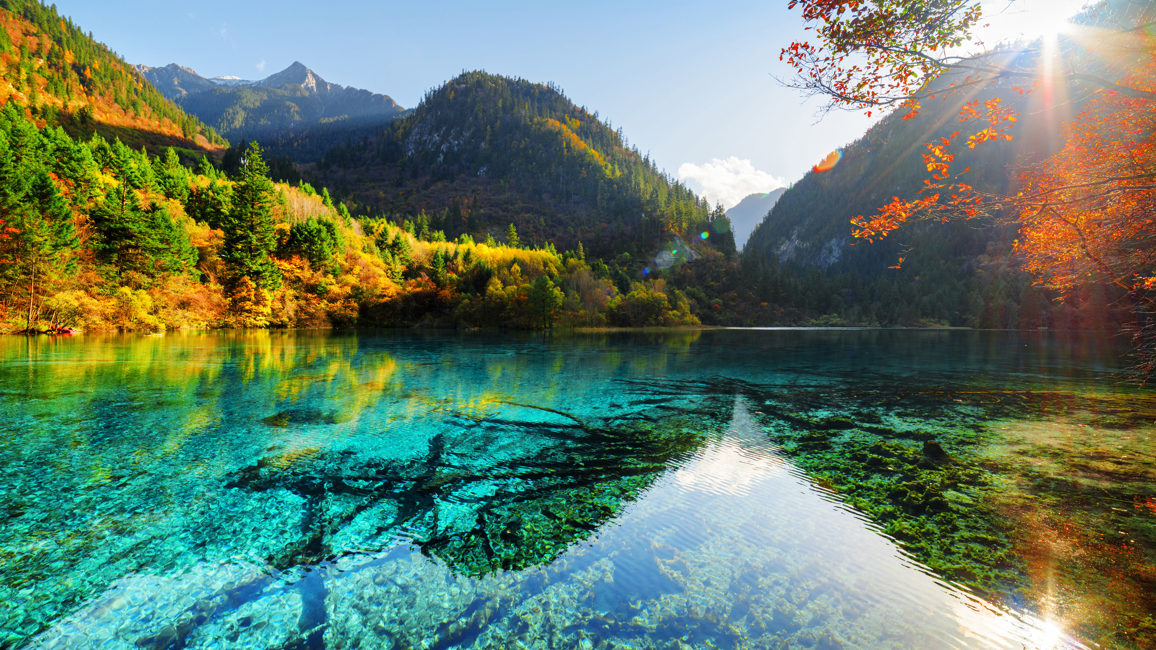 1366 x 768 resolution wallpaper,natural landscape,nature,reflection,water resources,mountain