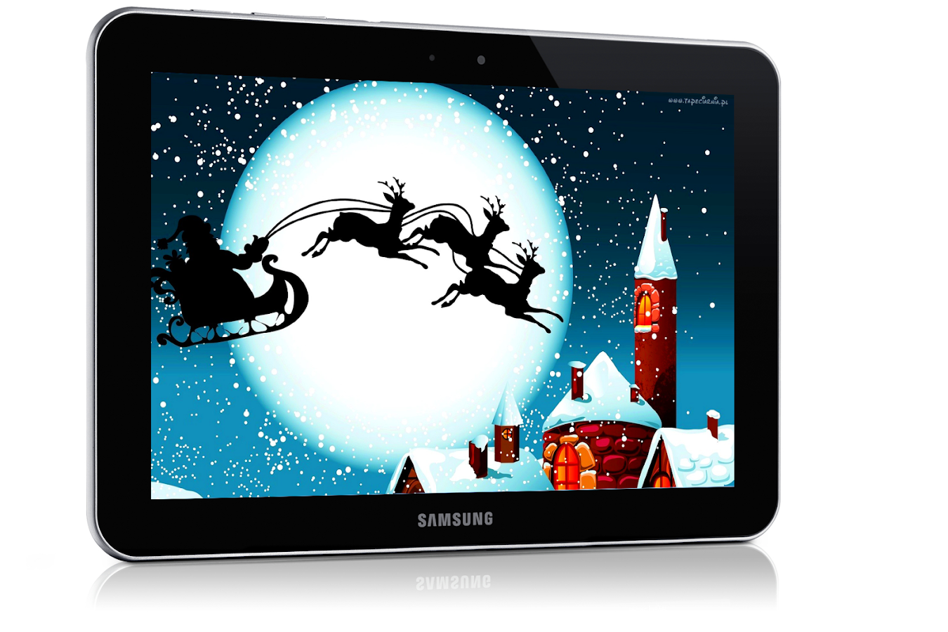 santa claus live wallpaper,tablet computer,ipad,technology,electronic device,screen