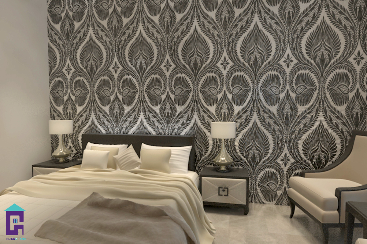 bedroom wallpaper,bedroom,wall,room,wallpaper,interior design
