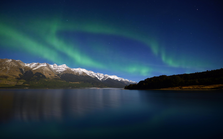 mac wallpaper,sky,nature,aurora,natural landscape,green