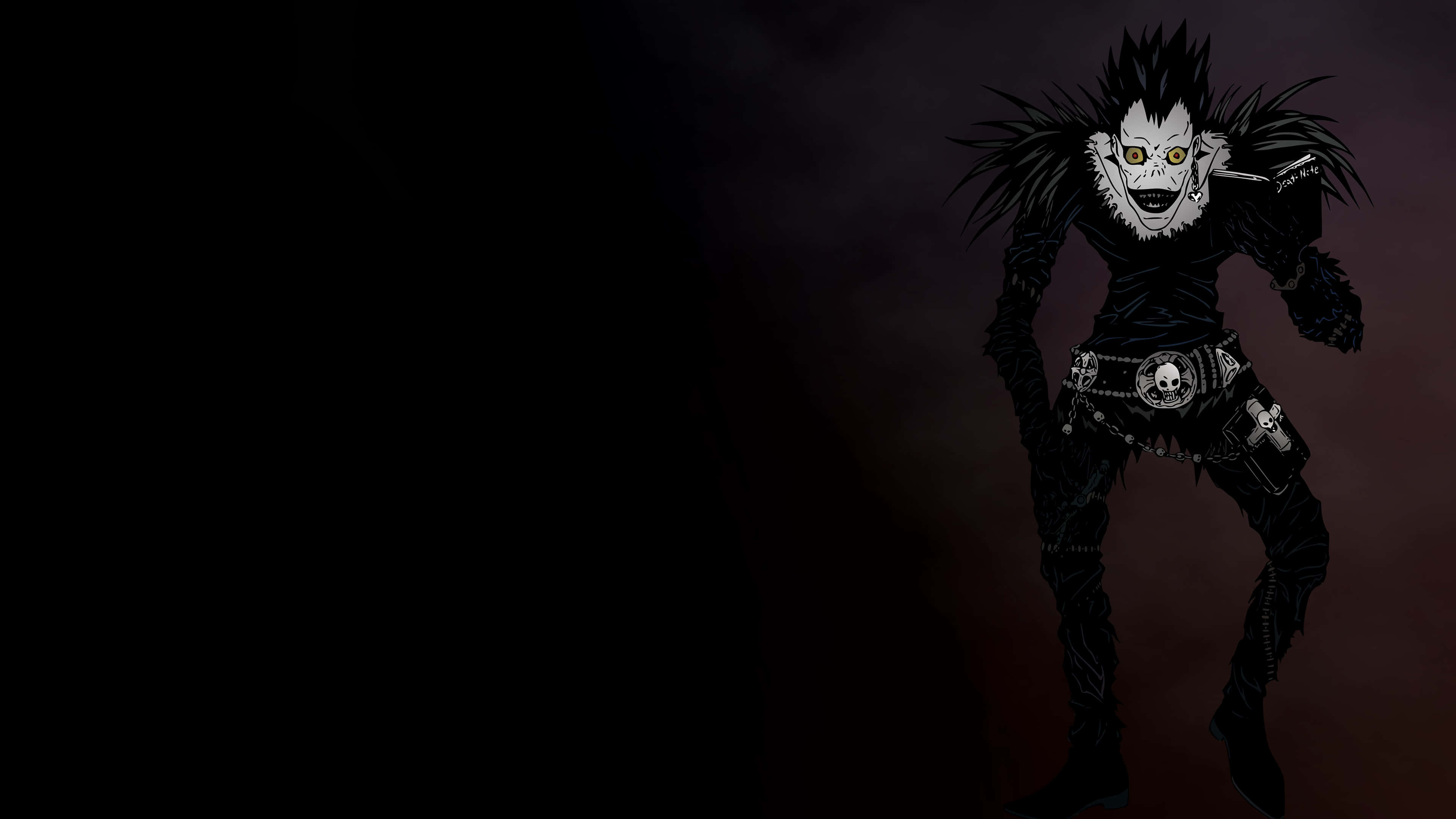 death note wallpaper,black,darkness,fictional character,black hair,anime