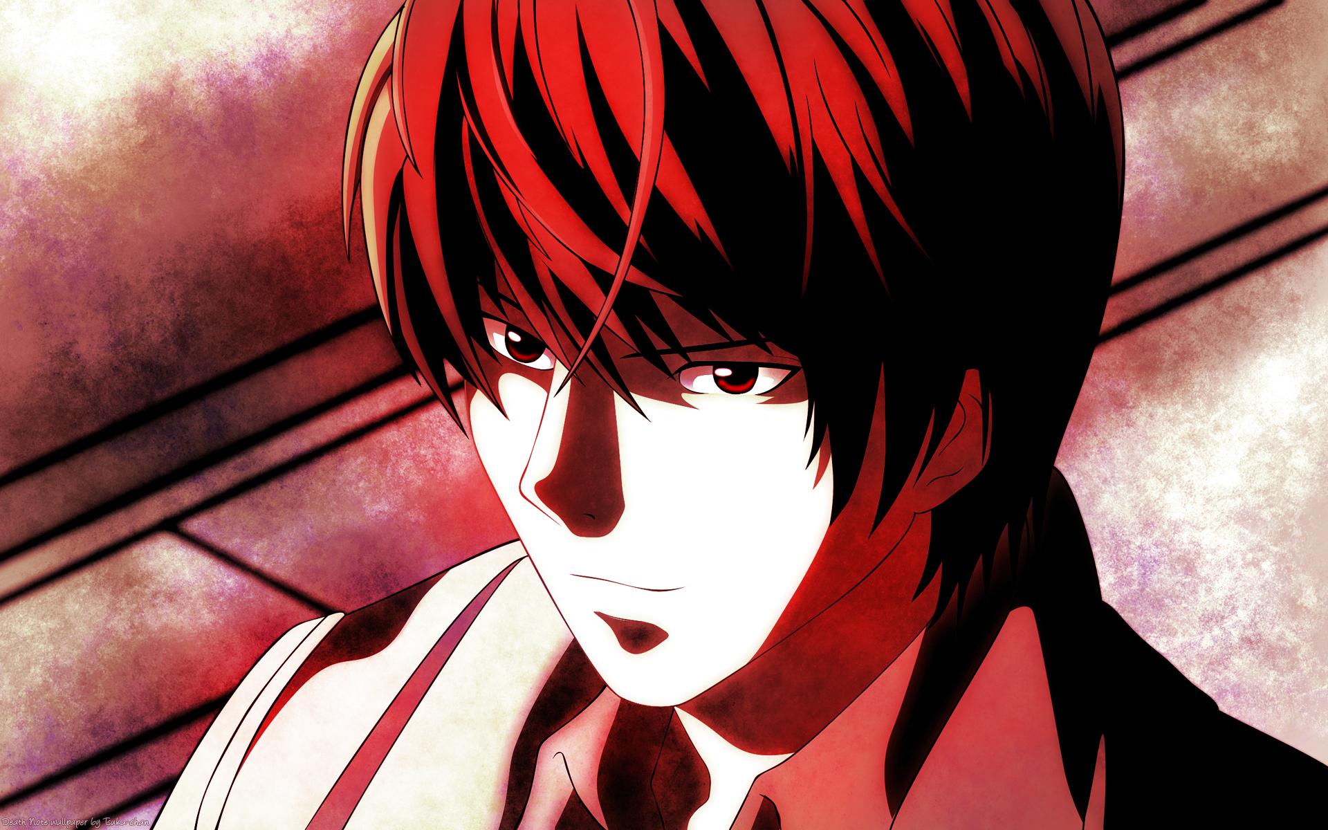 death note wallpaper,hair,face,red,anime,cartoon
