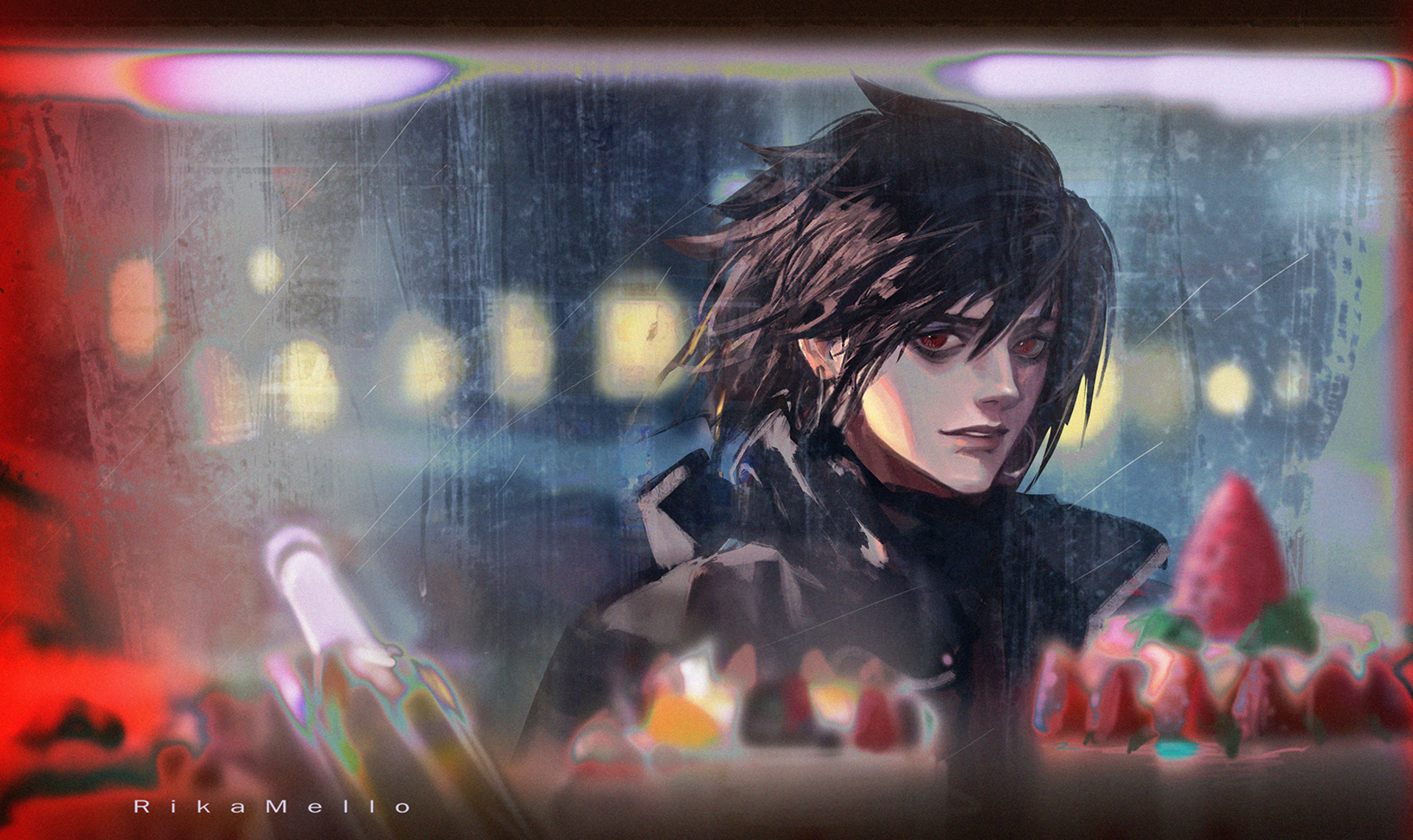 death note wallpaper,cg artwork,anime,black hair,games,graphics