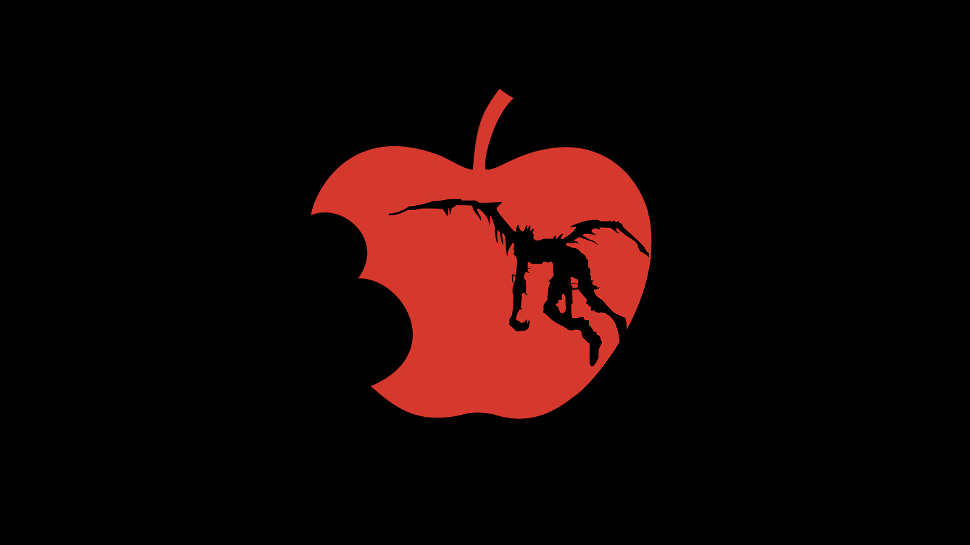 death note wallpaper,red,logo,fruit,plant,graphics