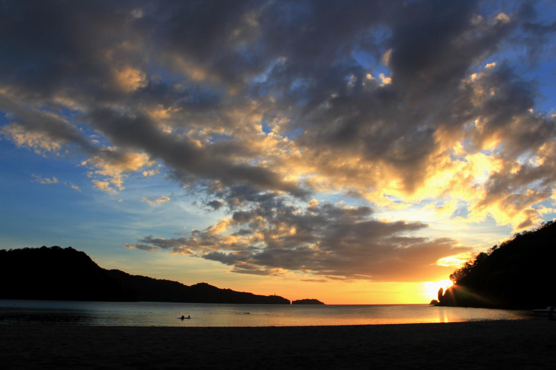sunset wallpaper,sky,cloud,horizon,afterglow,nature