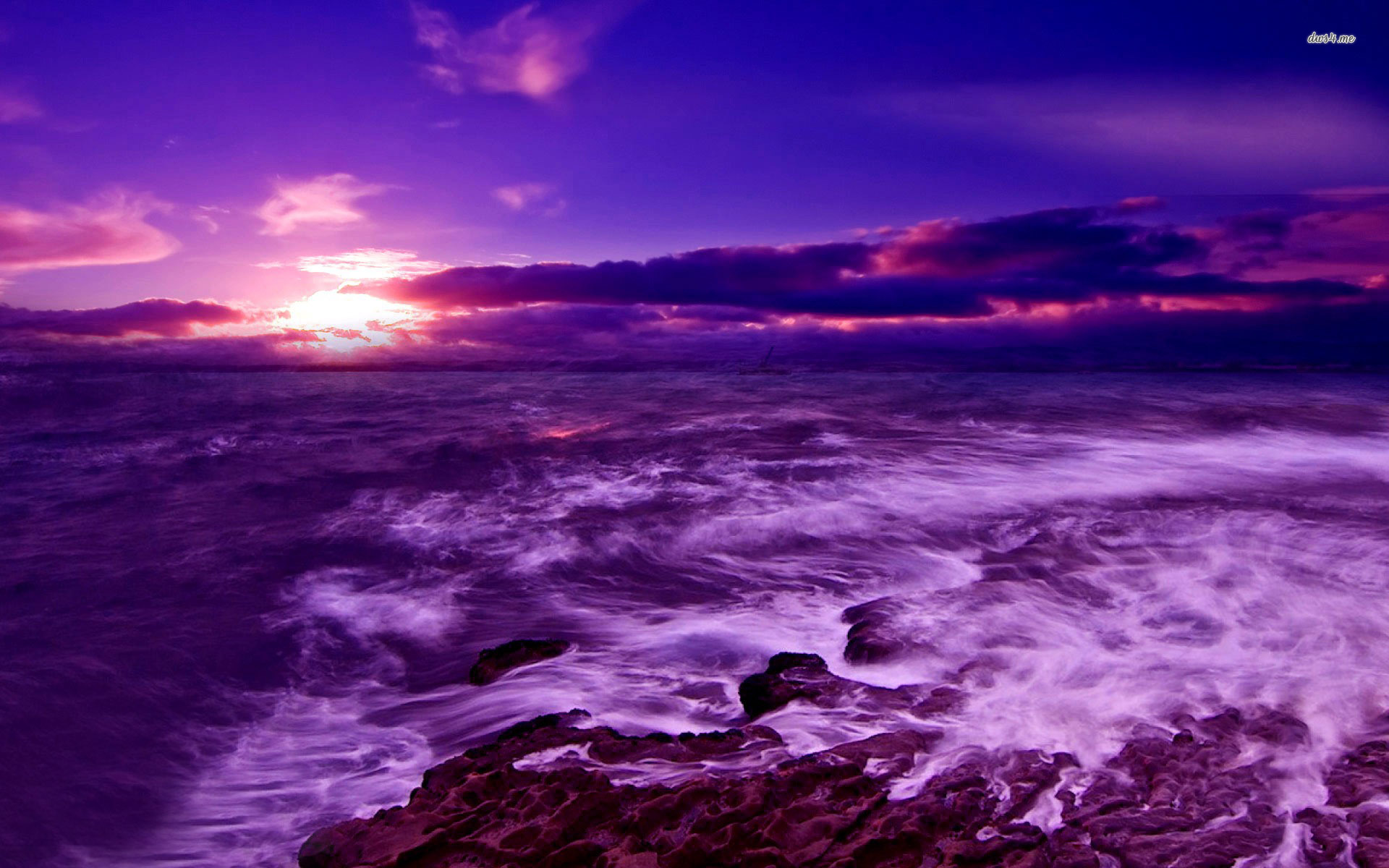 sea wallpaper,sky,sea,nature,ocean,purple