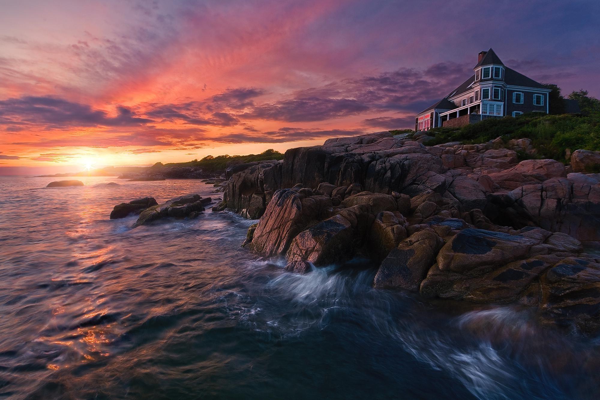 maine wallpaper,sky,nature,natural landscape,photograph,sea