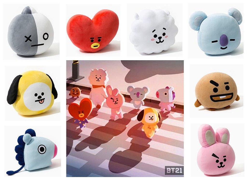 kpop group cartoon character plushies