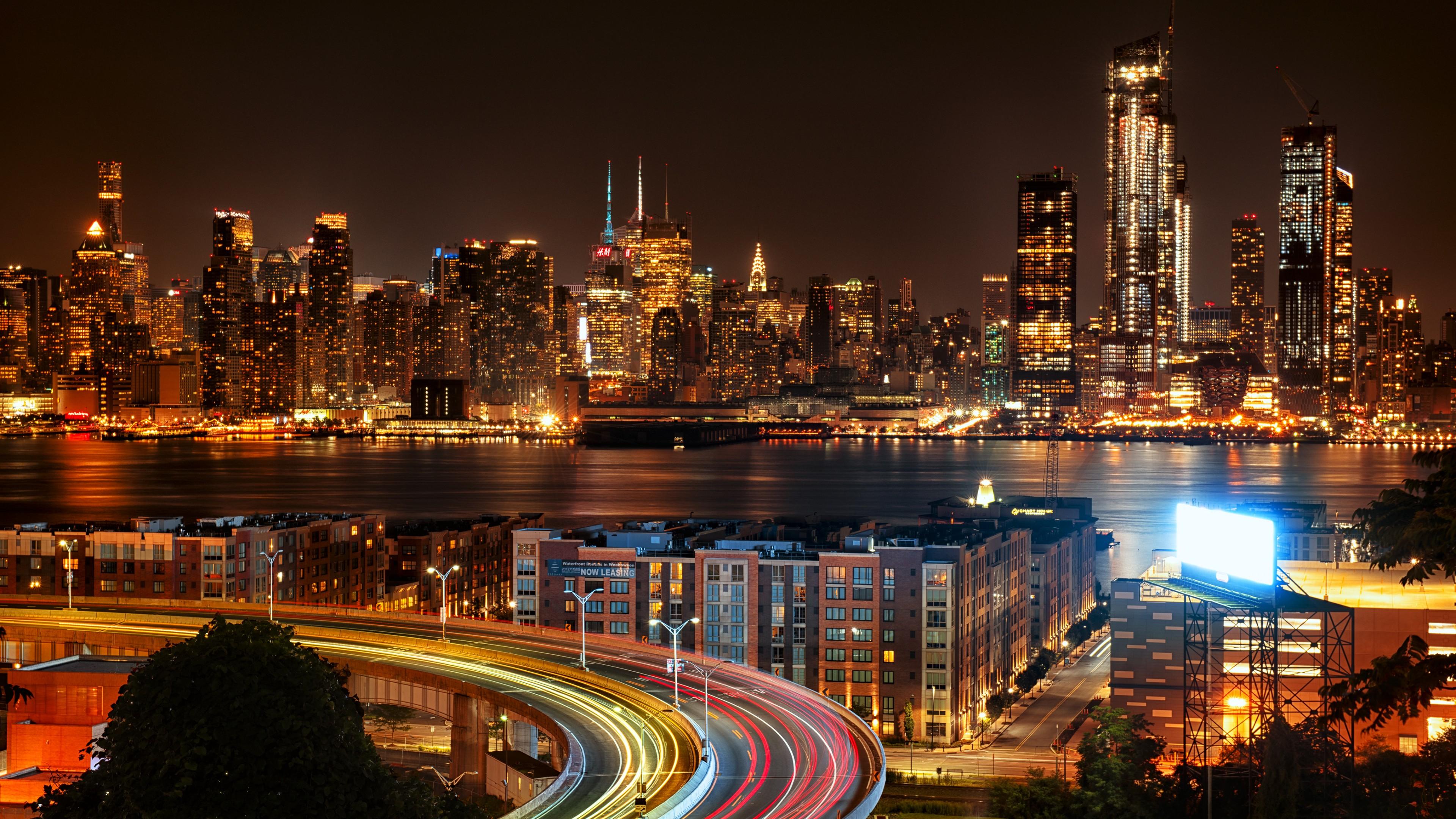 new york wallpaper 4k,cityscape,city,metropolitan area,skyline,urban area