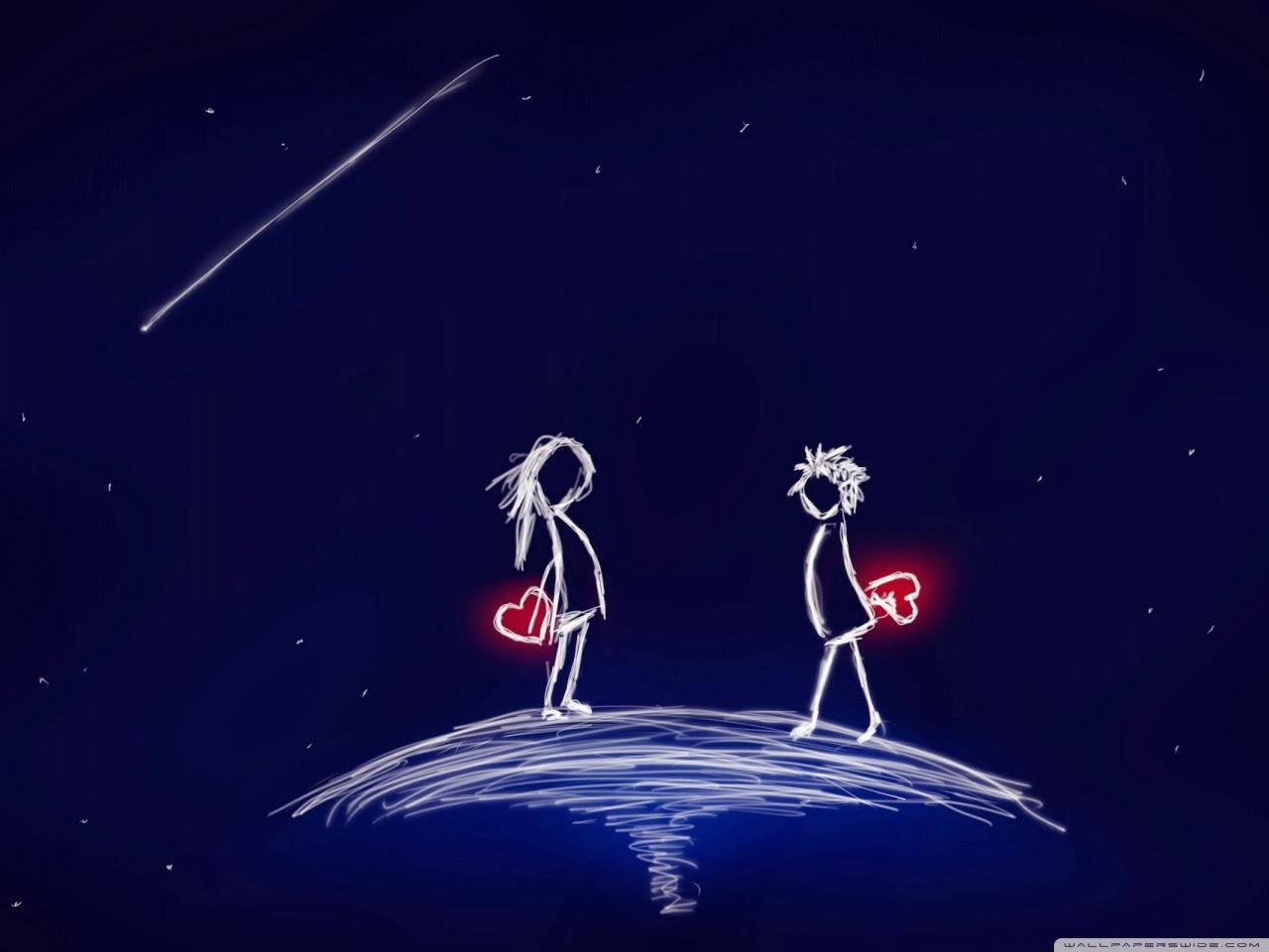 i love you komal name wallpaper,animated cartoon,sky,animation,atmosphere,space