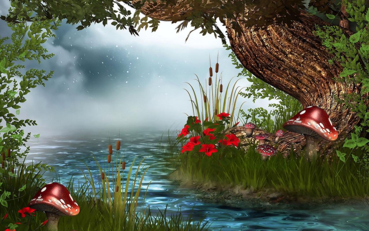 3d nature wallpaper for pc desktop free download,natural landscape,nature,water,red,bank