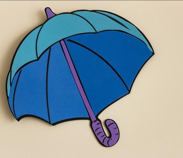 memasang wallpaper pada dinding bercat,blue,umbrella,illustration,fashion accessory
