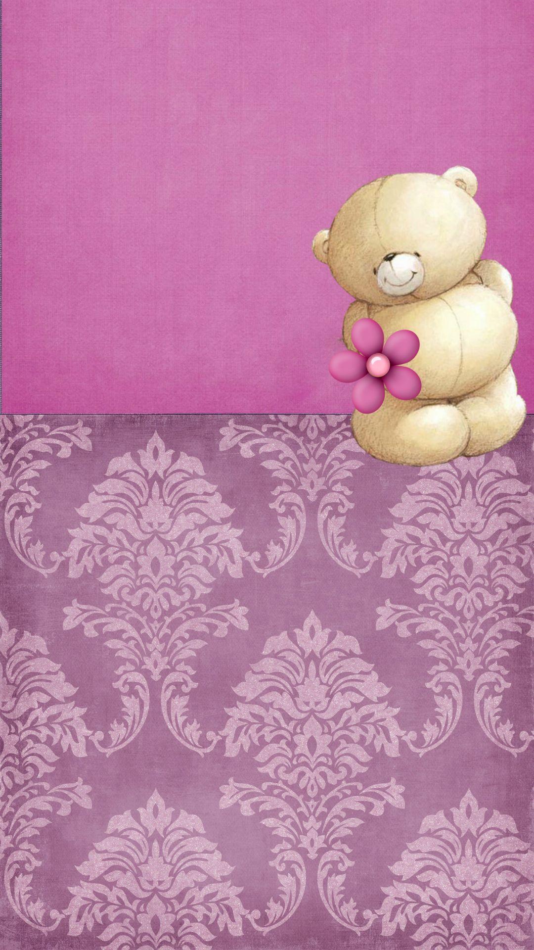 friends mobile wallpaper,pink,purple,violet,lilac,teddy bear