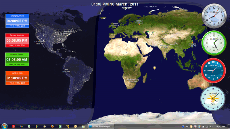 nature clock live wallpaper,world,earth,map,screenshot,strategy video game
