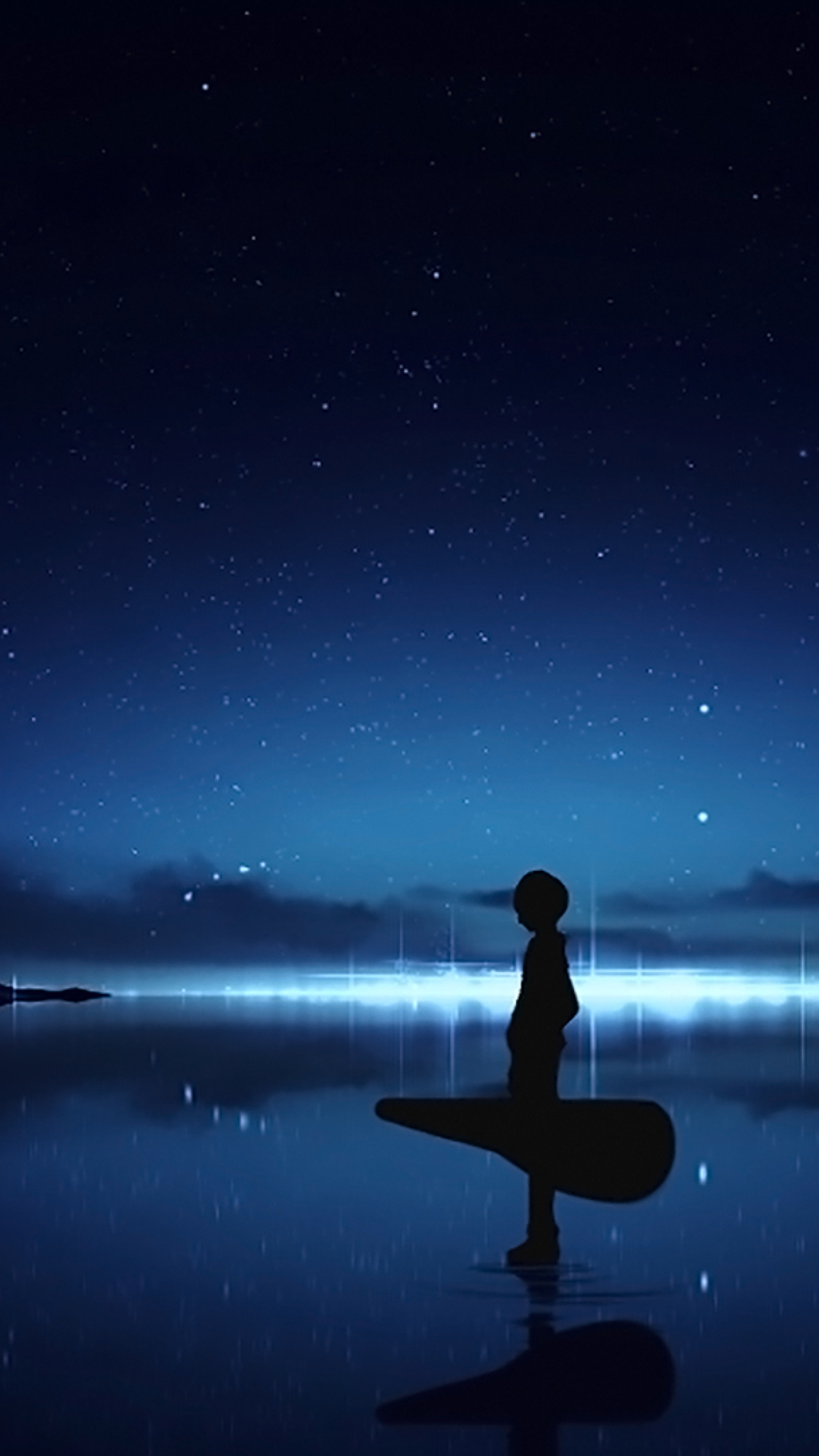 alone boy hd wallpaper,sky,water,atmosphere,horizon,light