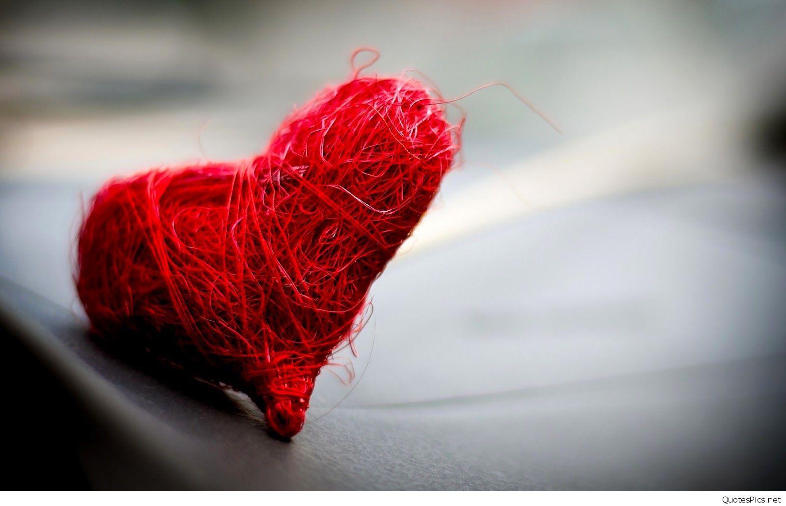 broken heart hd wallpaper,red,thread,wool,textile,close up