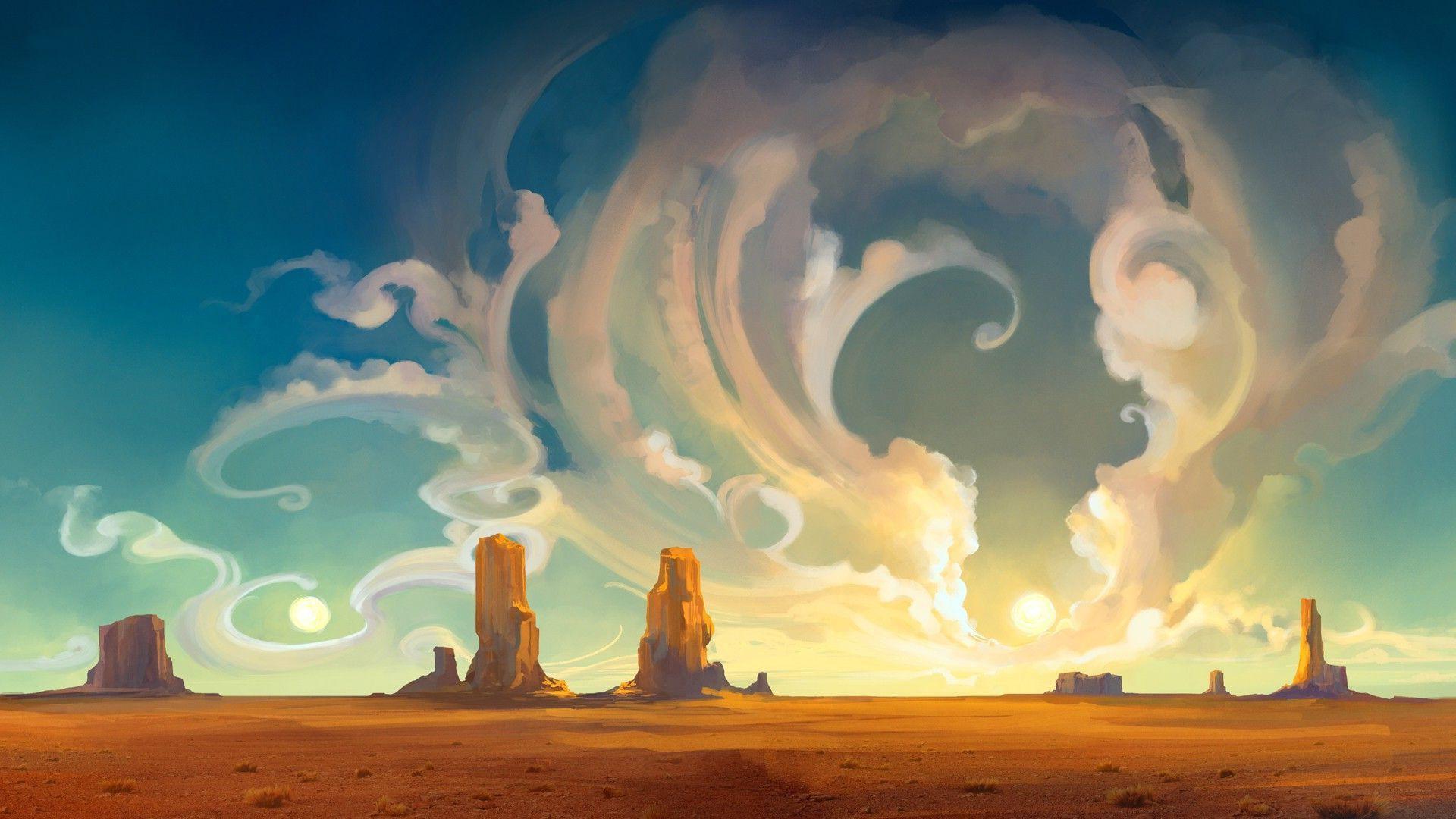 concept art wallpaper,sky,cloud,natural environment,geological phenomenon,atmosphere