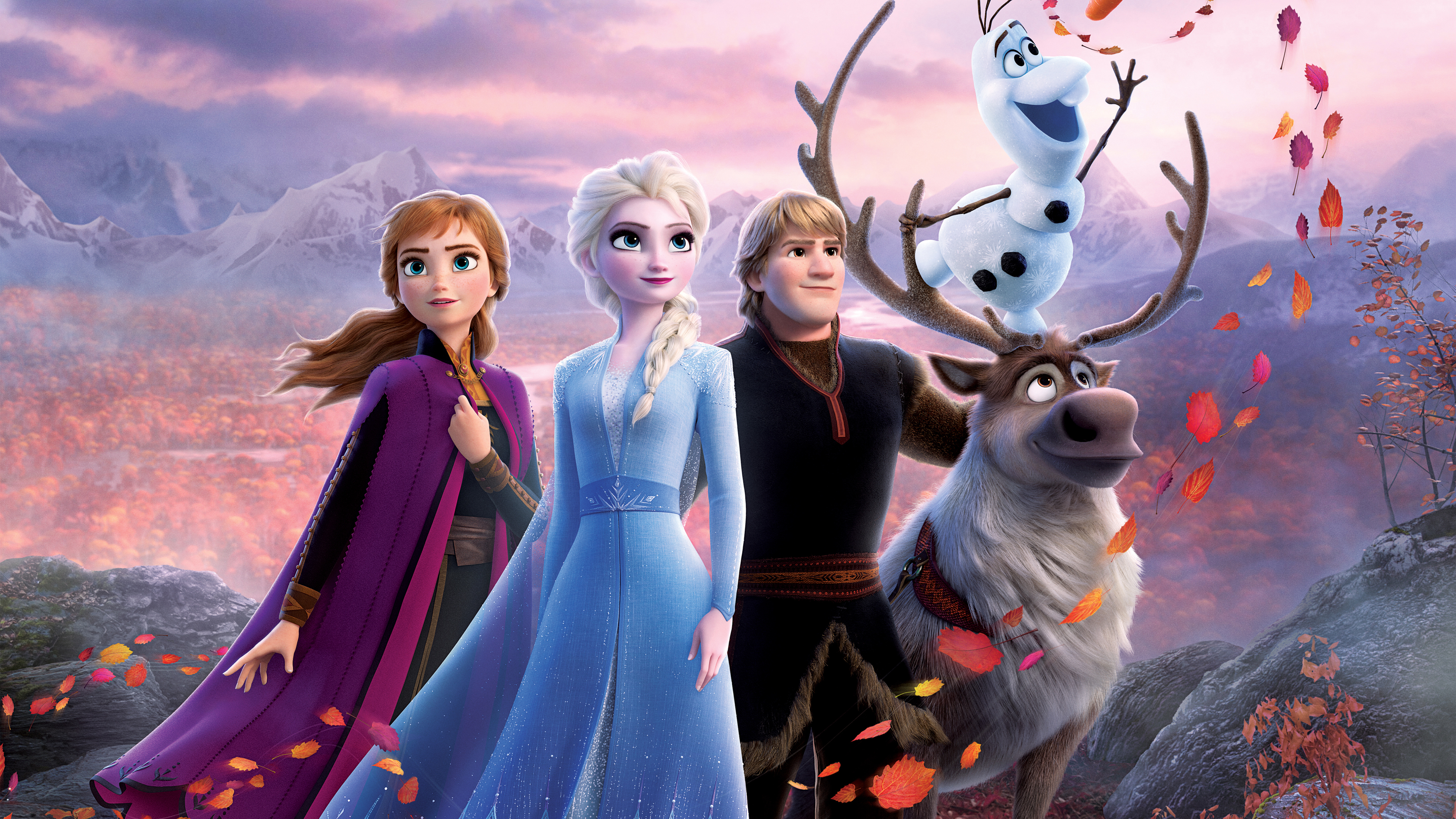 wallpaper de frozen,animated cartoon,reindeer,cg artwork,animation,illustration
