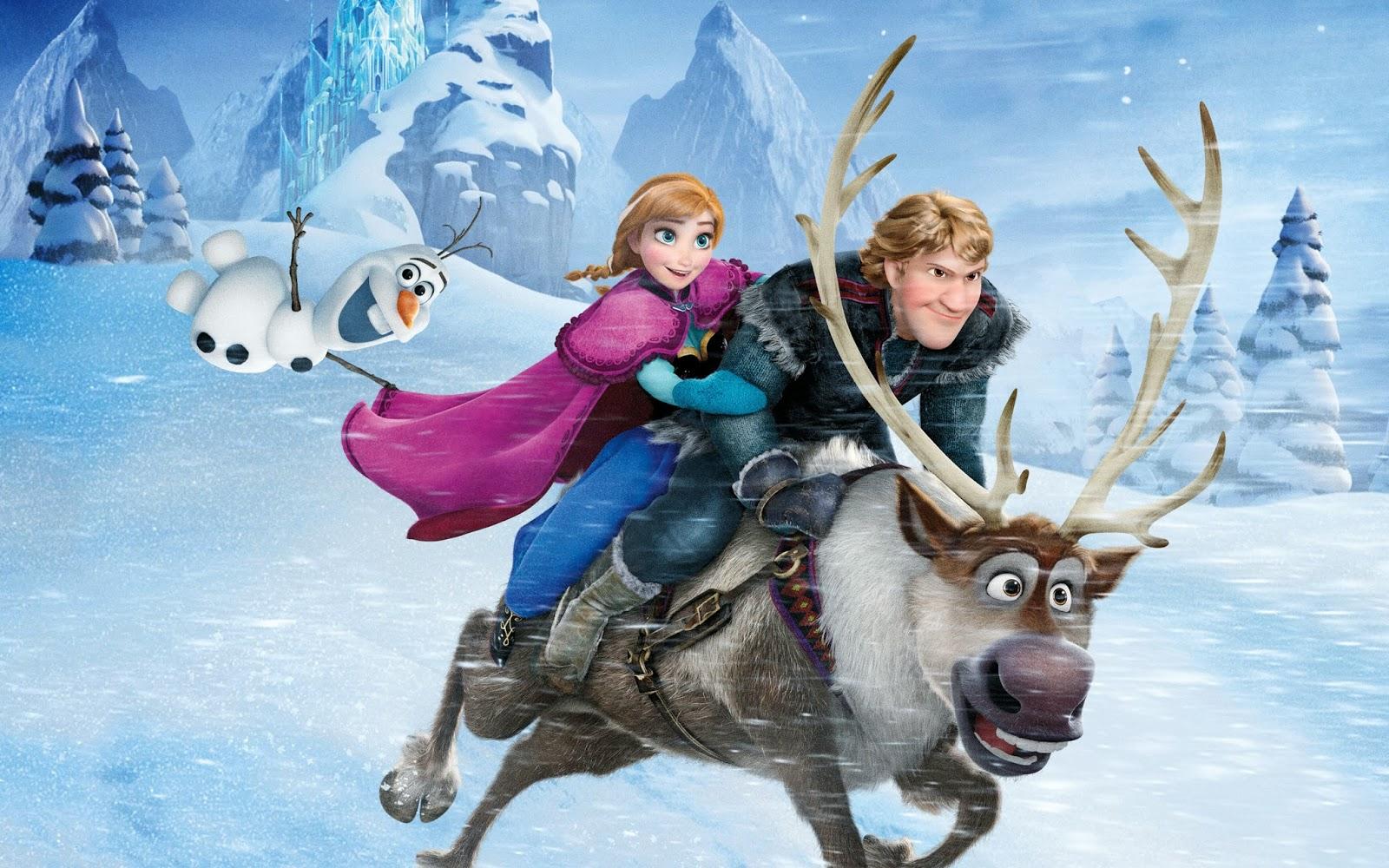 frozen 3d wallpaper,reindeer,animated cartoon,deer,animation,winter