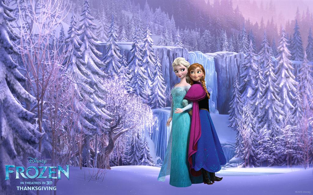 frozen wallpaper elsa and anna,winter,purple,snow,lavender,fashion
