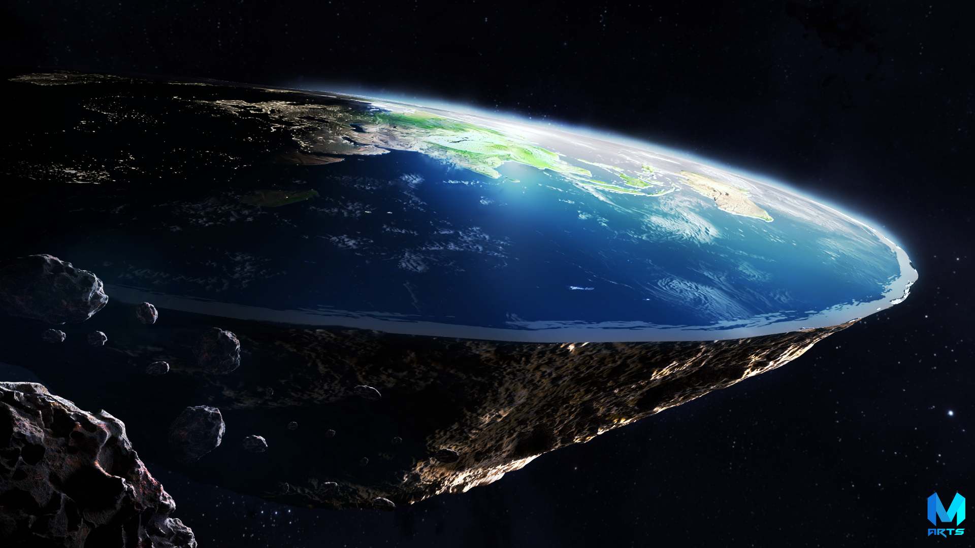 flat earth wallpaper,outer space,atmosphere,earth,astronomical object,planet